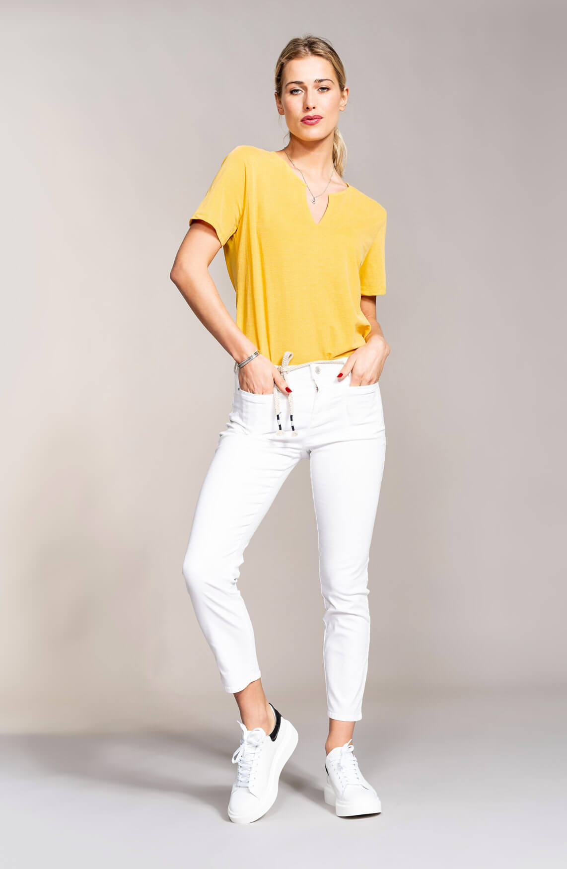 Anna Dames Luxe top geel