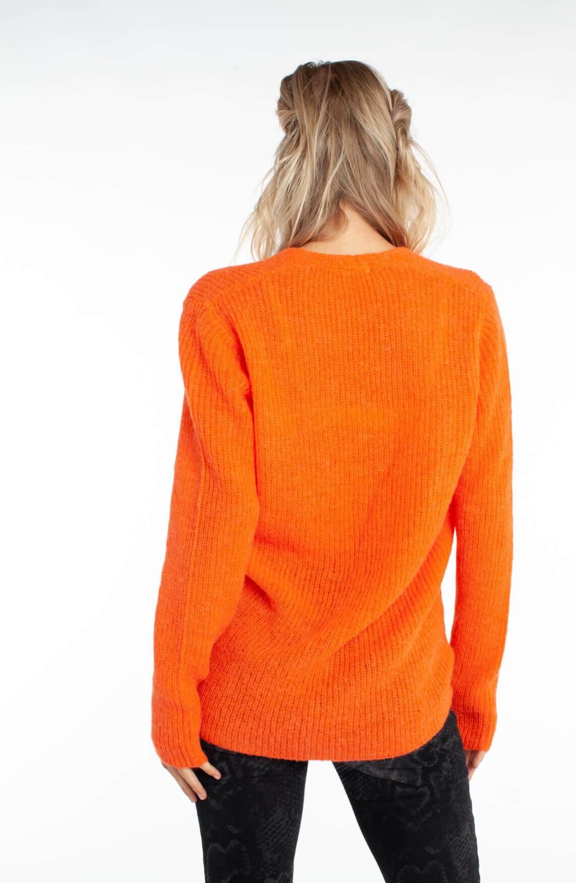 Drykorn Dames Selen gebreide pullover Oranje