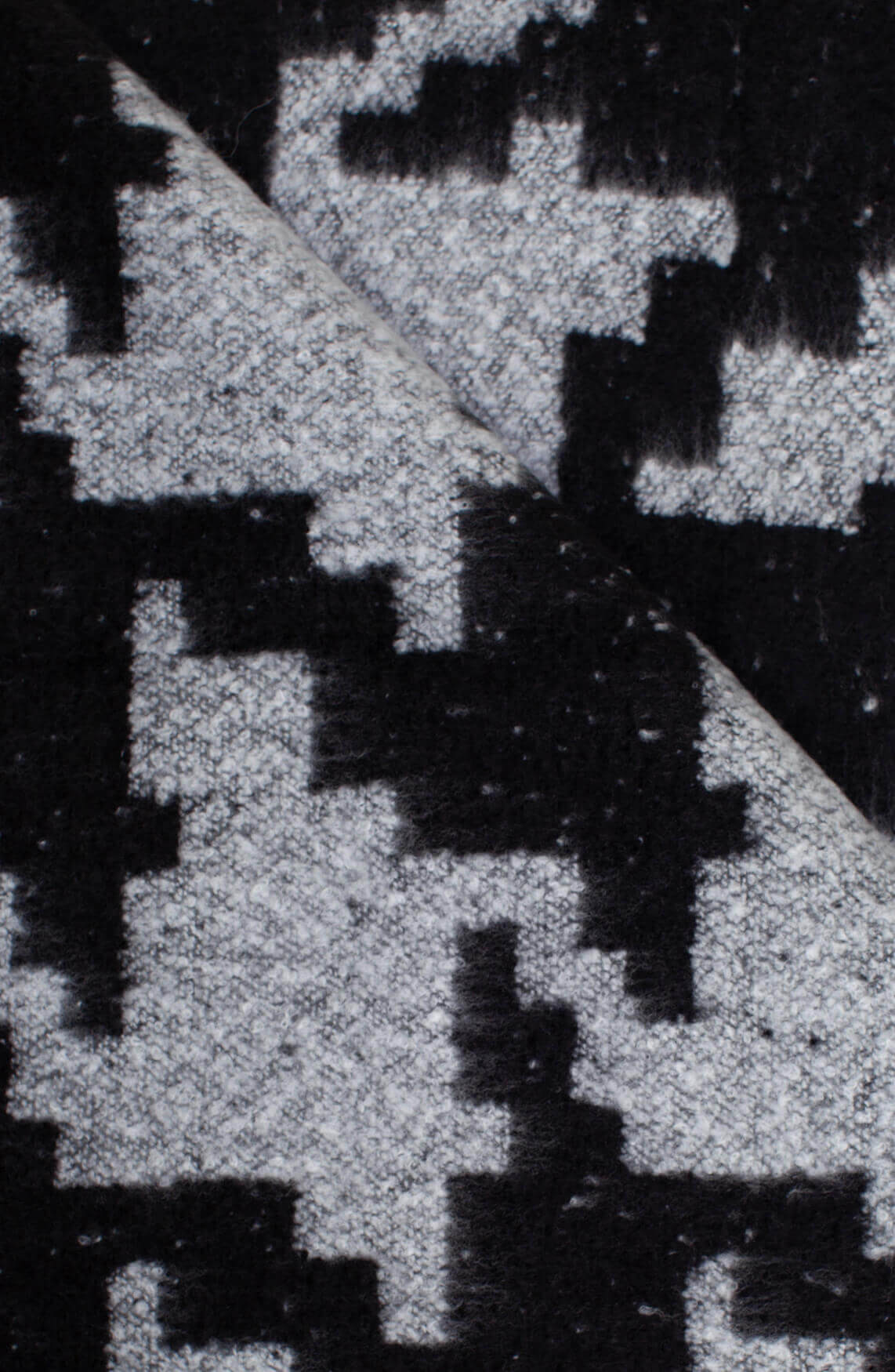 Anna Dames Gebreide shawl zwart