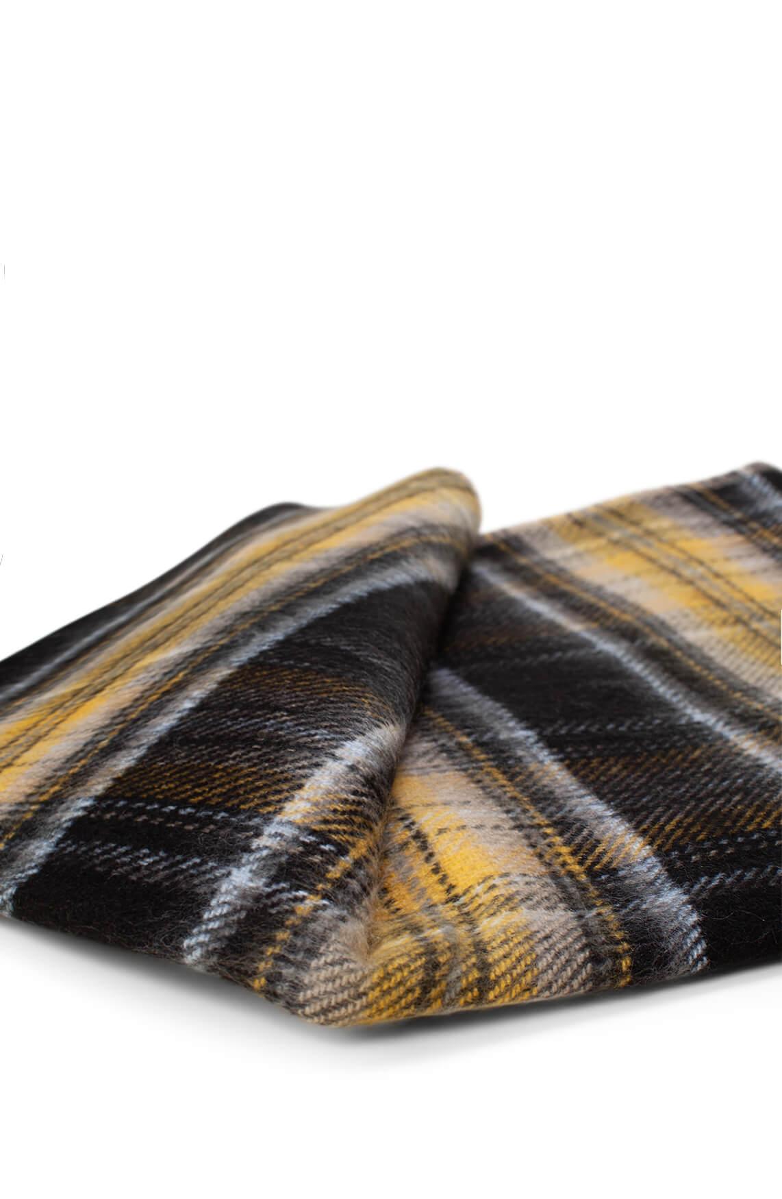 Anna Dames Geruite shawl geel