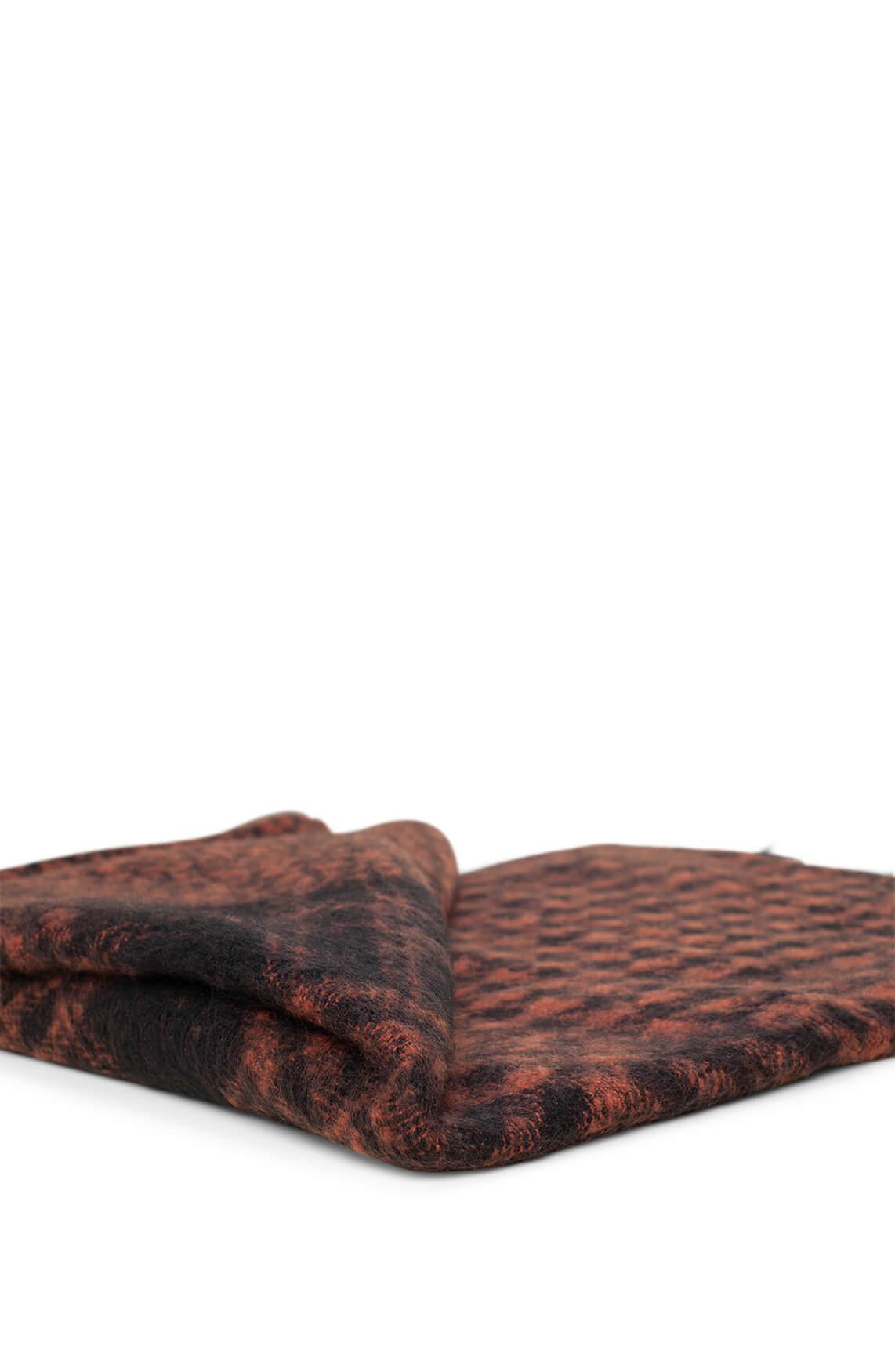 Anna Dames Pied-de-coque shawl Bruin
