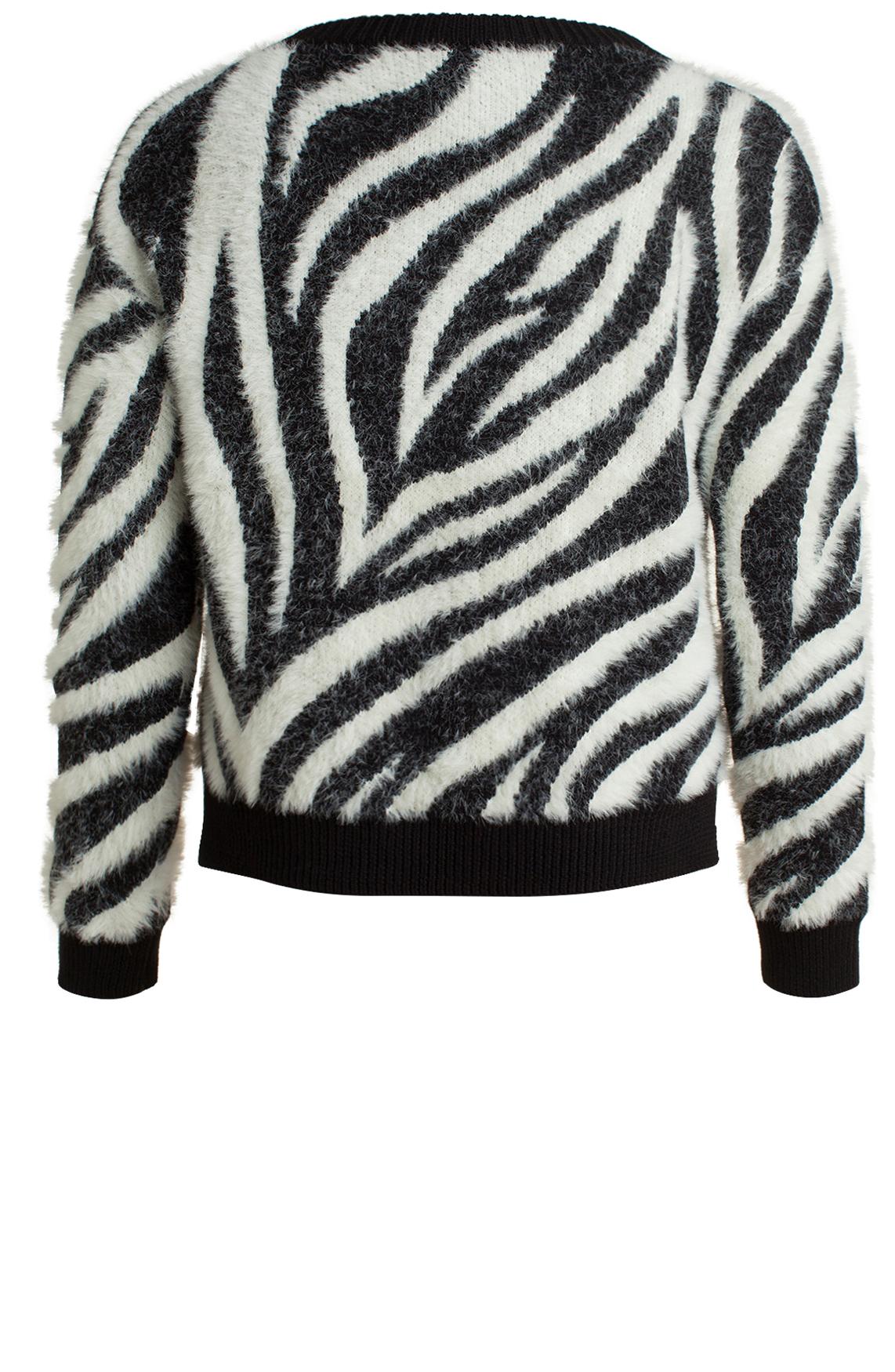 Anna Dames Harige trui zwart