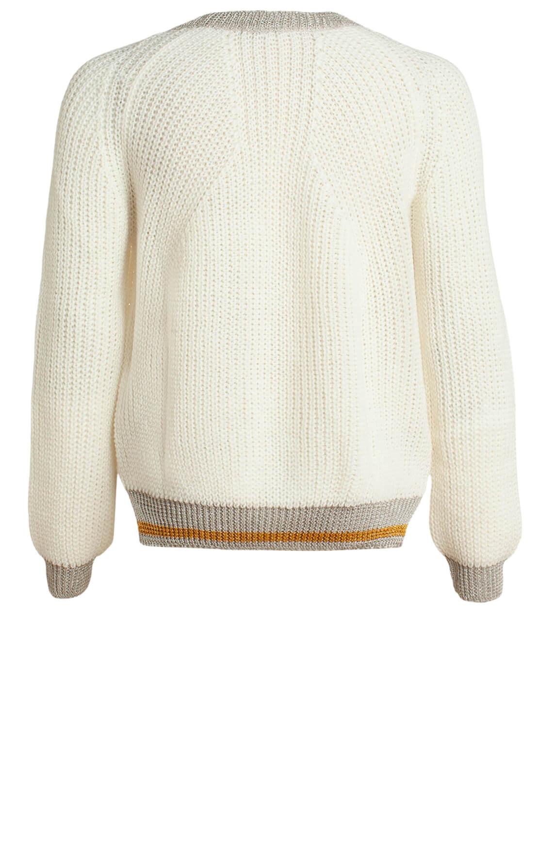 Anna Dames Gebreide trui met lurex wit
