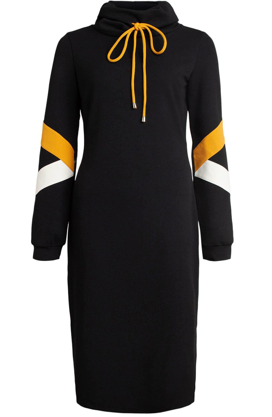 Ana Alcazar Dames Jurk met hoodie zwart
