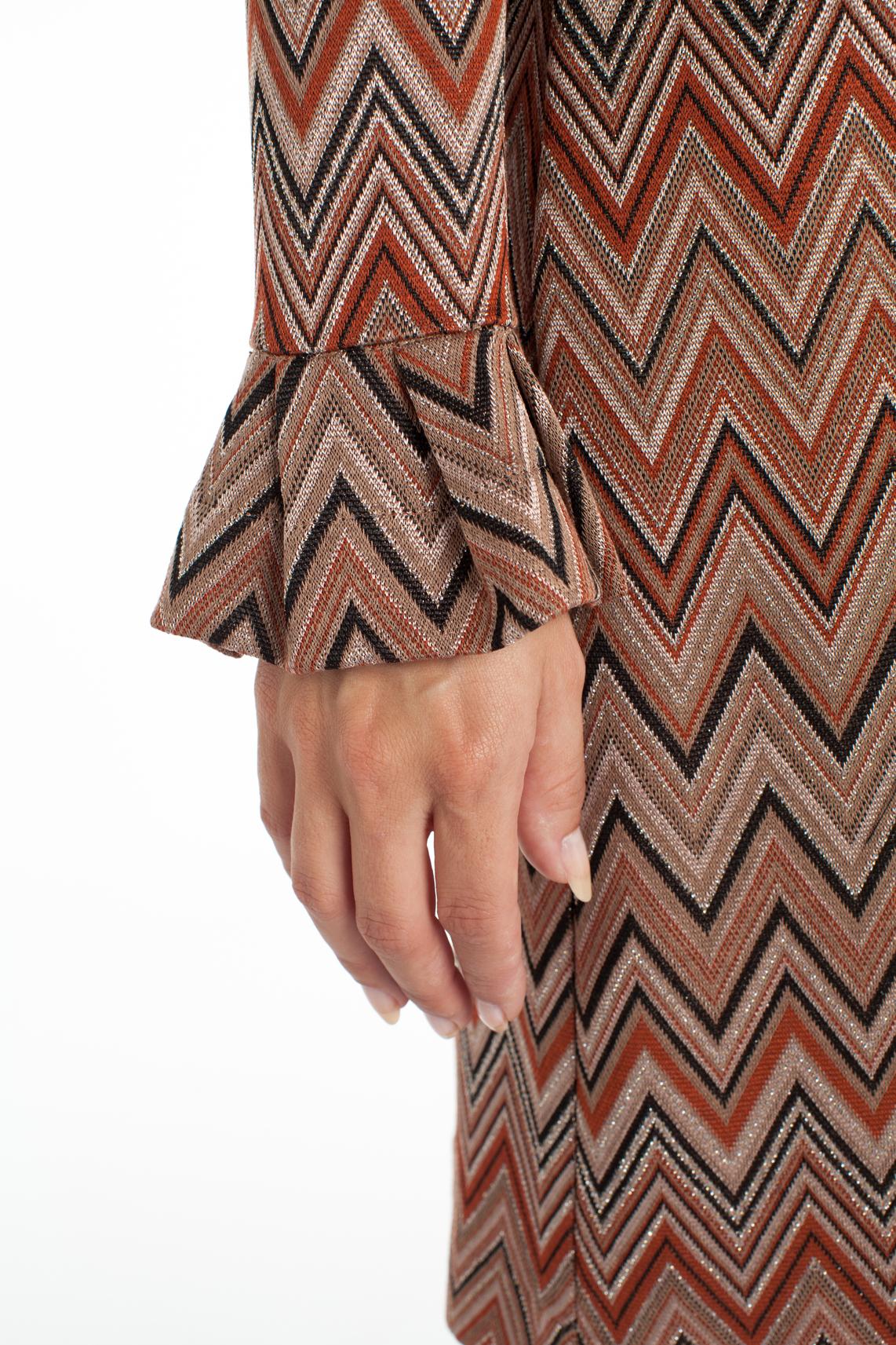 Ana Alcazar Dames Zigzag jurk met lurex Blauw