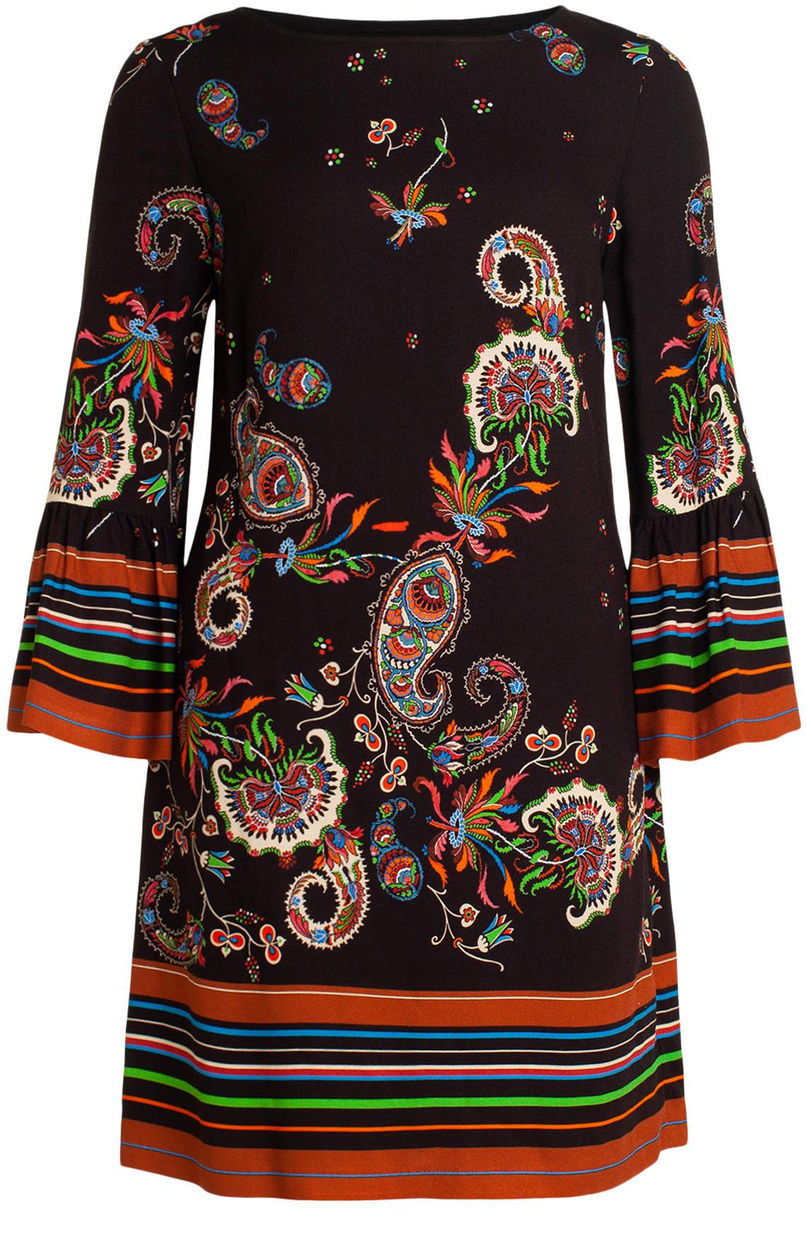 Ana Alcazar Dames Vadane jurk met Paisley print zwart