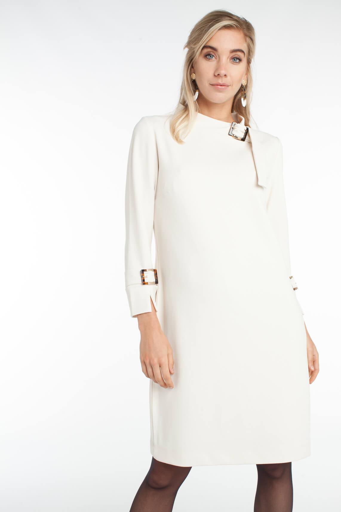 Ana Alcazar Dames Sixties jurk Ecru