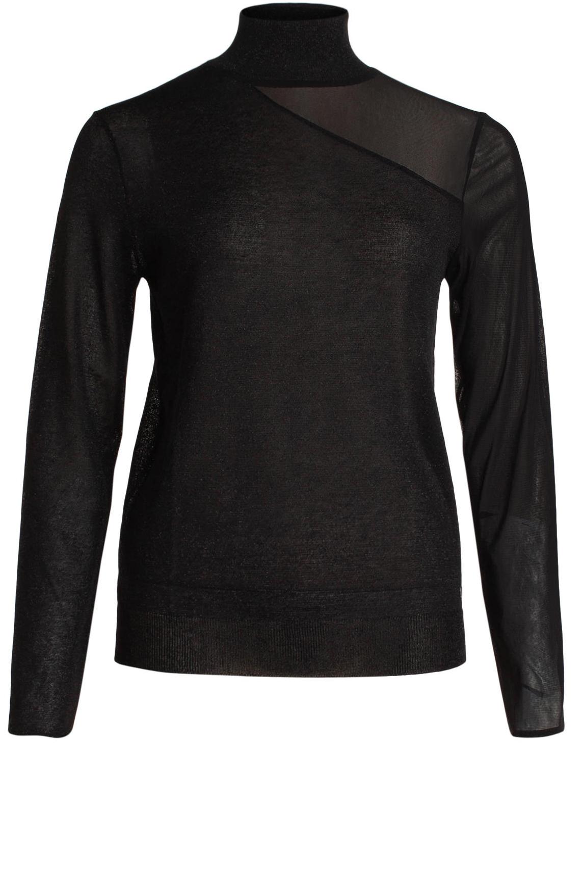Kocca Dames Weans pullover met lurex zwart