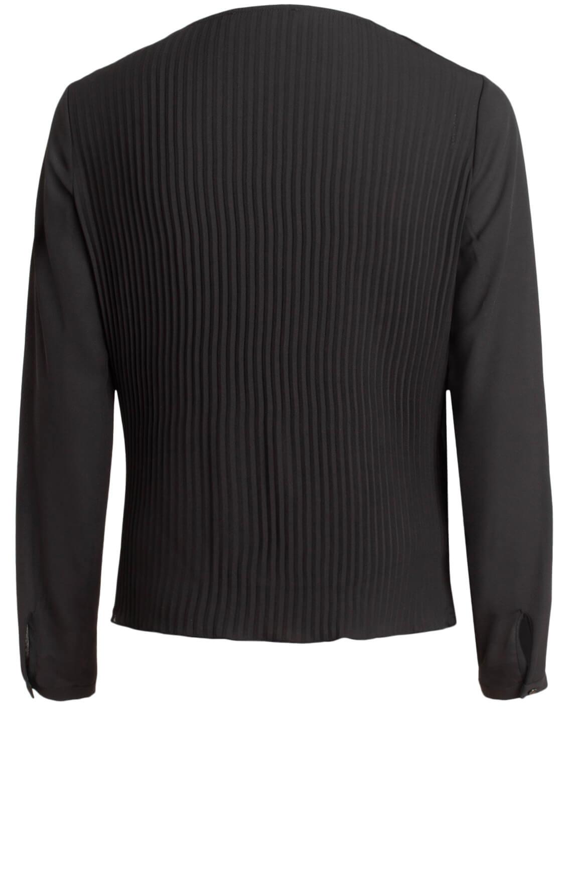 Kocca Dames Four plissé blouse zwart