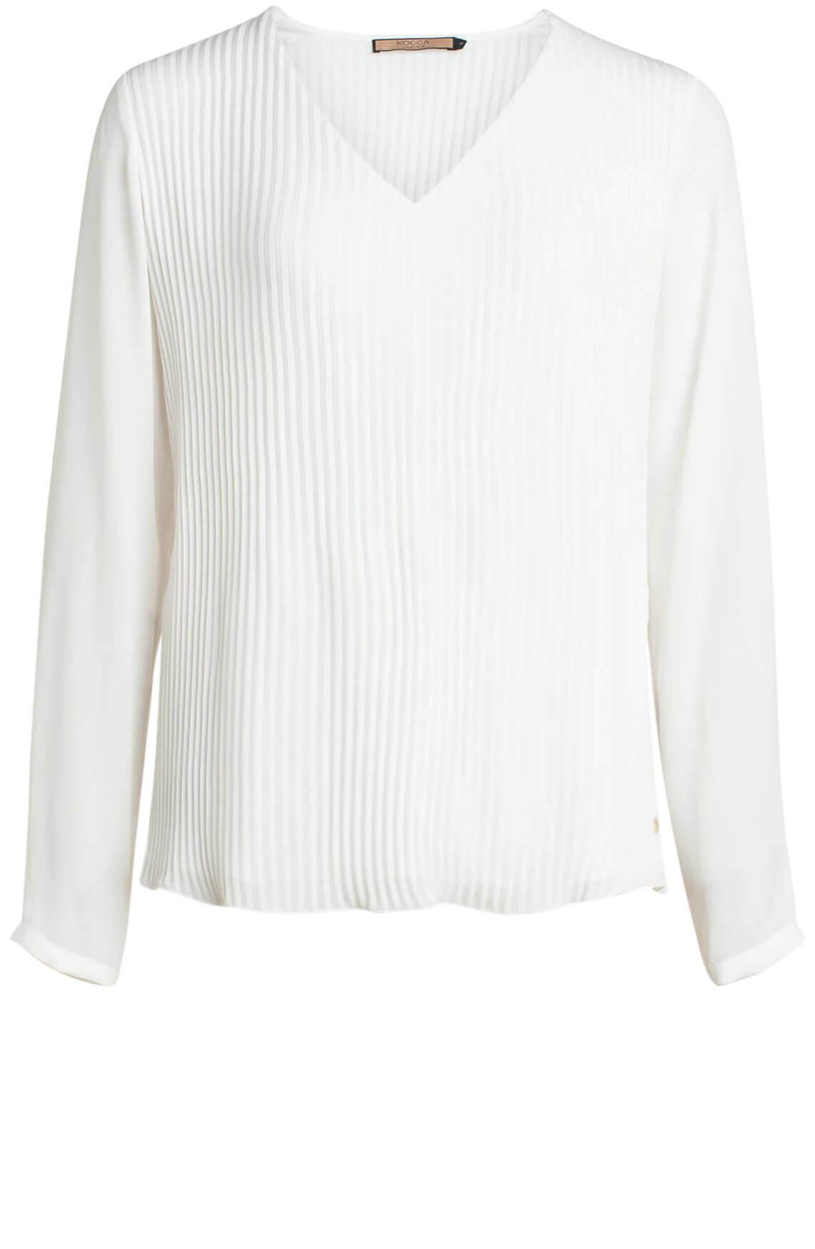 Kocca Dames Four plissé blouse wit