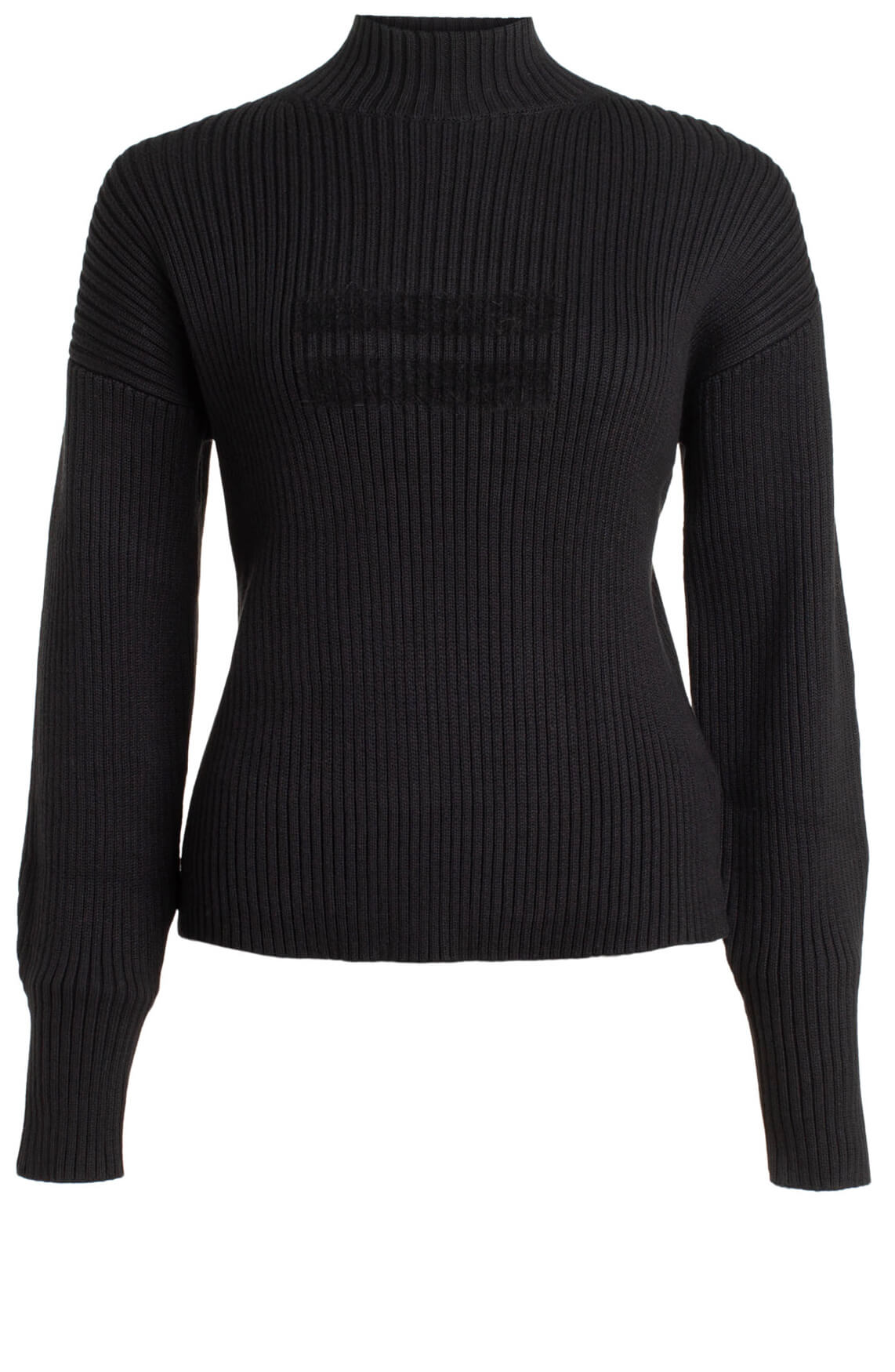 10 Days Dames Ribgebreide sweater zwart