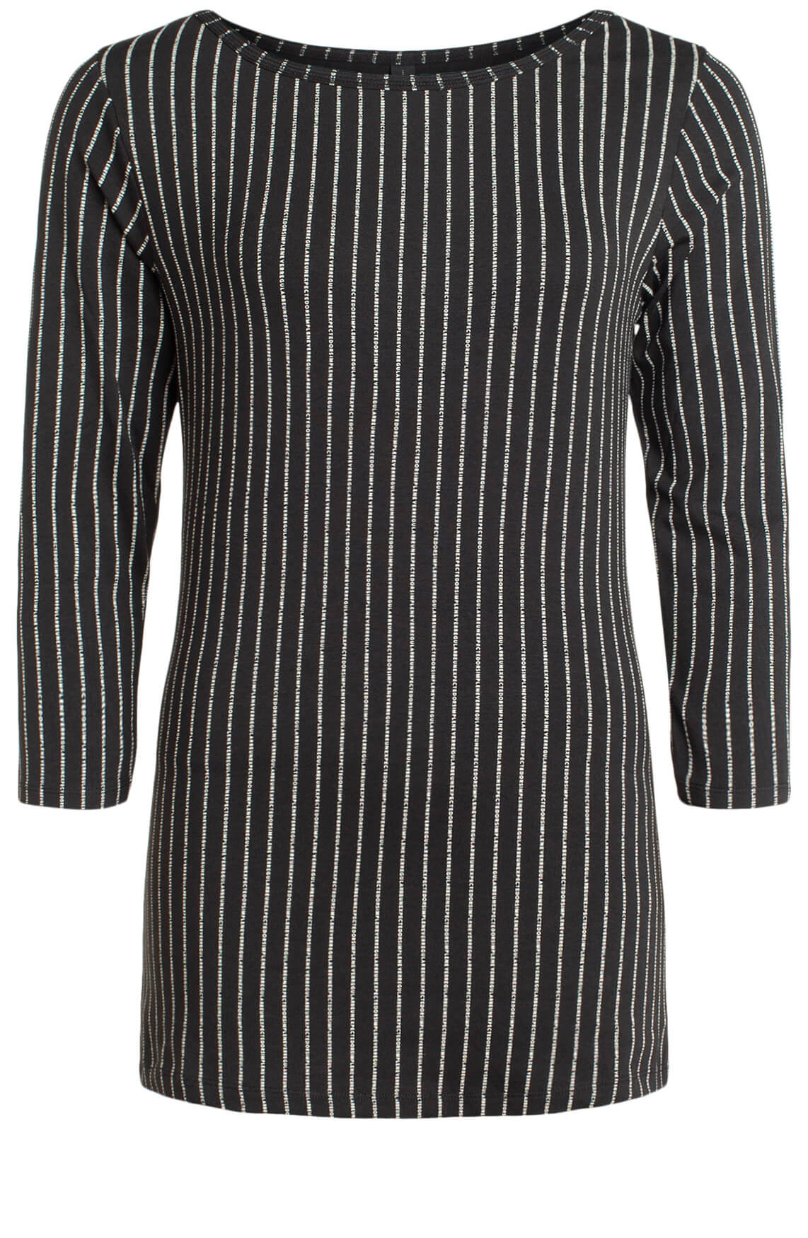 10 Days Dames Shirt met tekstprint zwart