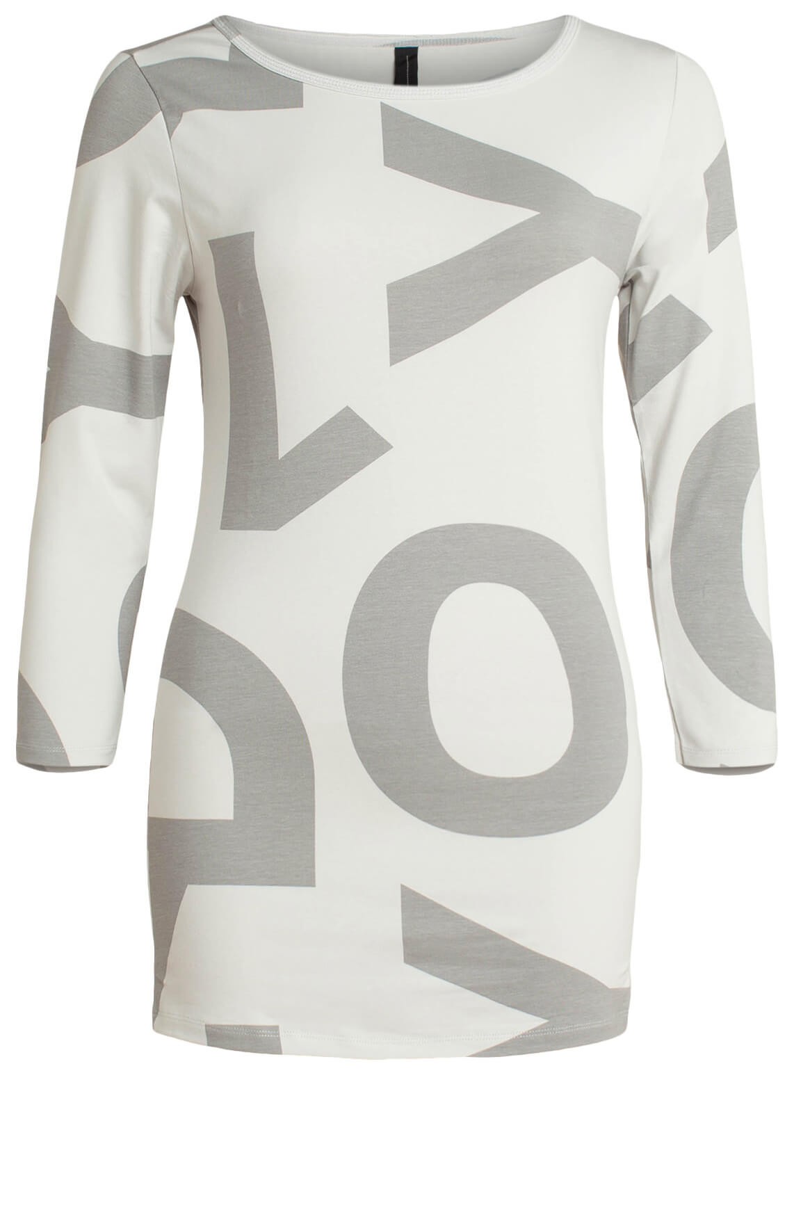 10 Days Dames Shirt met tekstprint Grijs