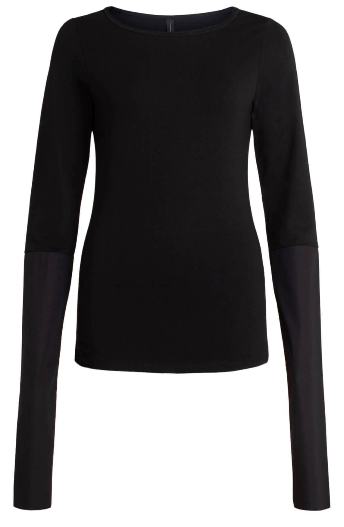 10 Days Dames Shirt met extra lange mouwen zwart
