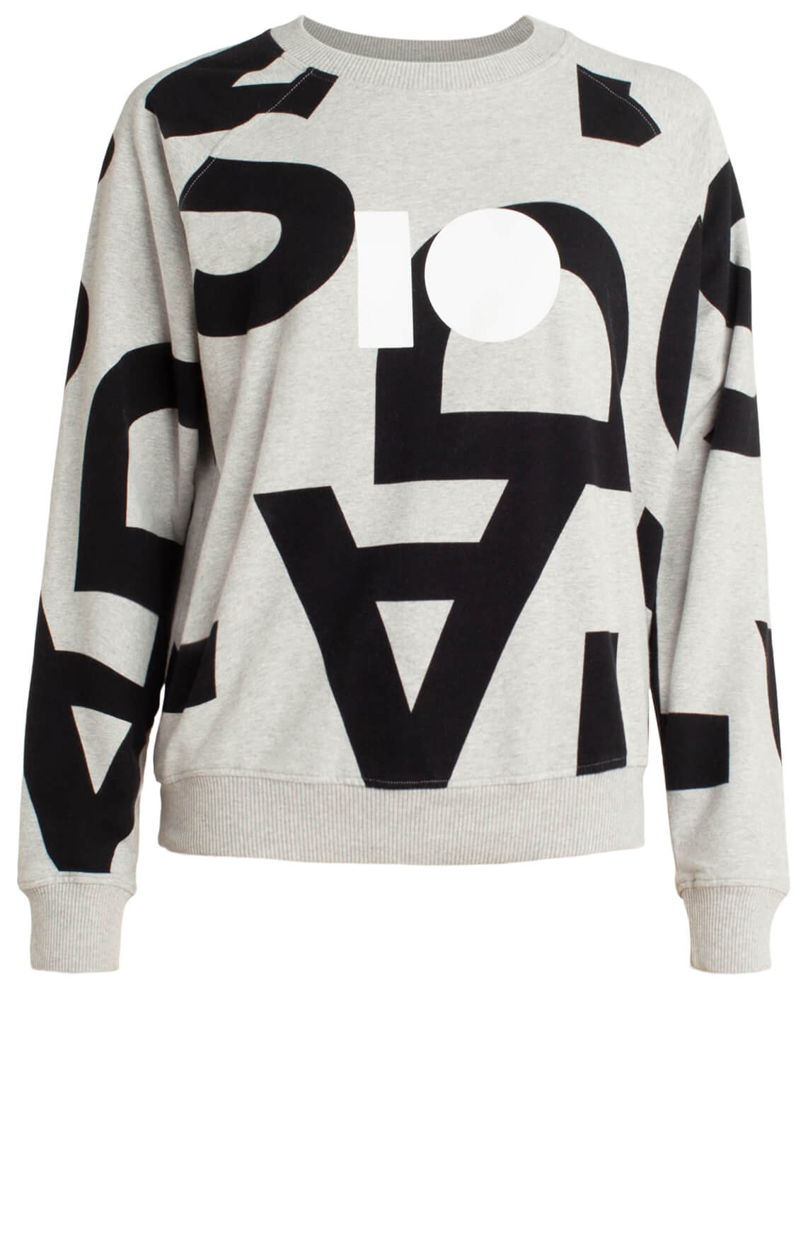 10 Days Dames Sweater met tekstprint Grijs
