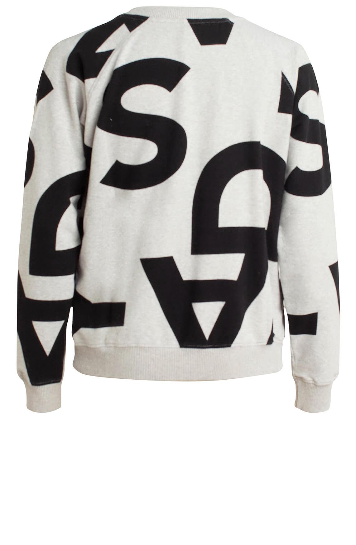 10 Days Dames Sweater met tekstprint Grijs