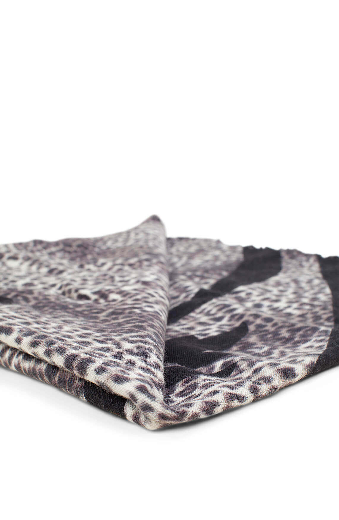 10 Days Dames Wollen shawl met panterprint Bruin