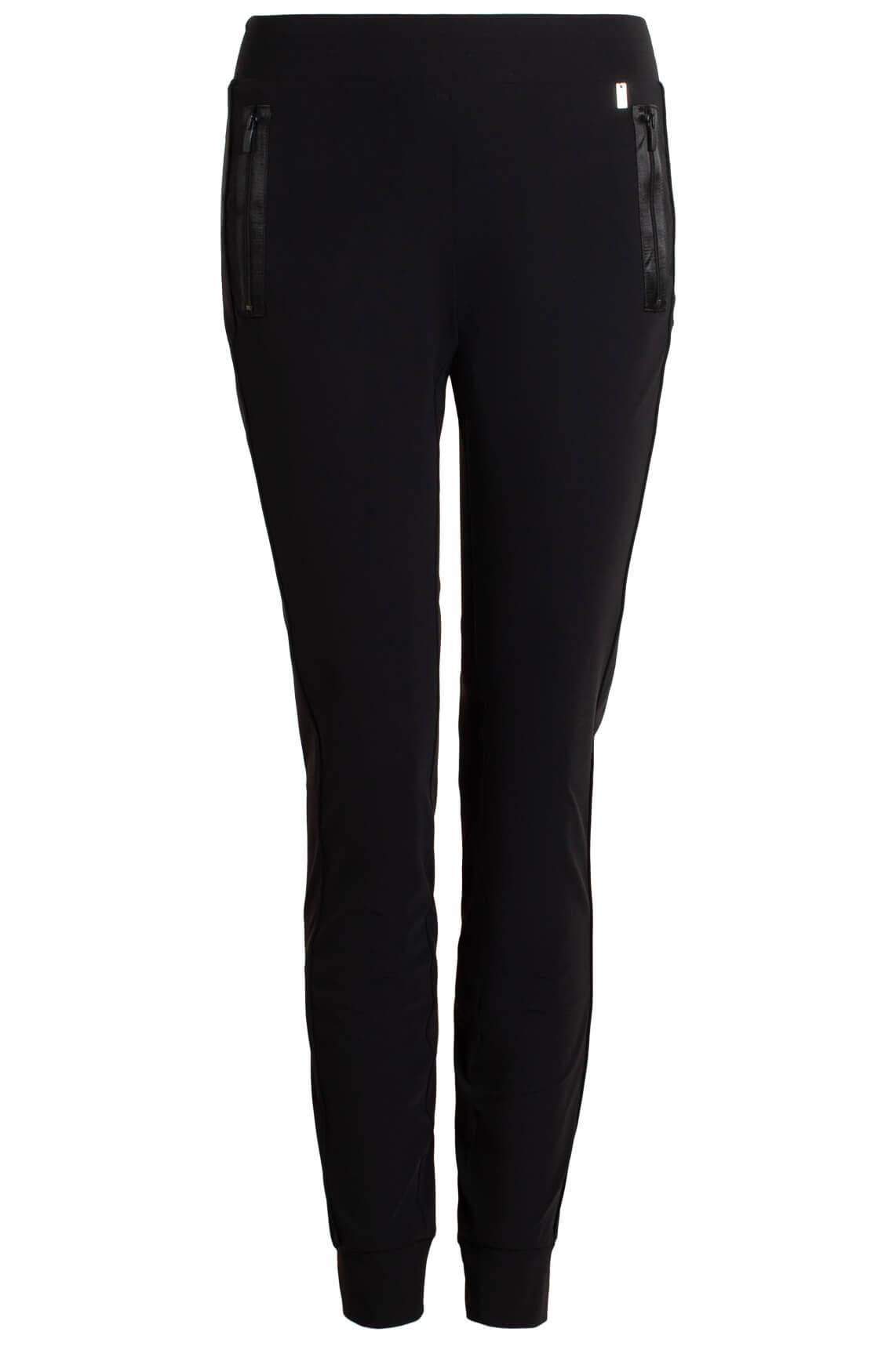 Anna Dames Jersey jogpantalon zwart