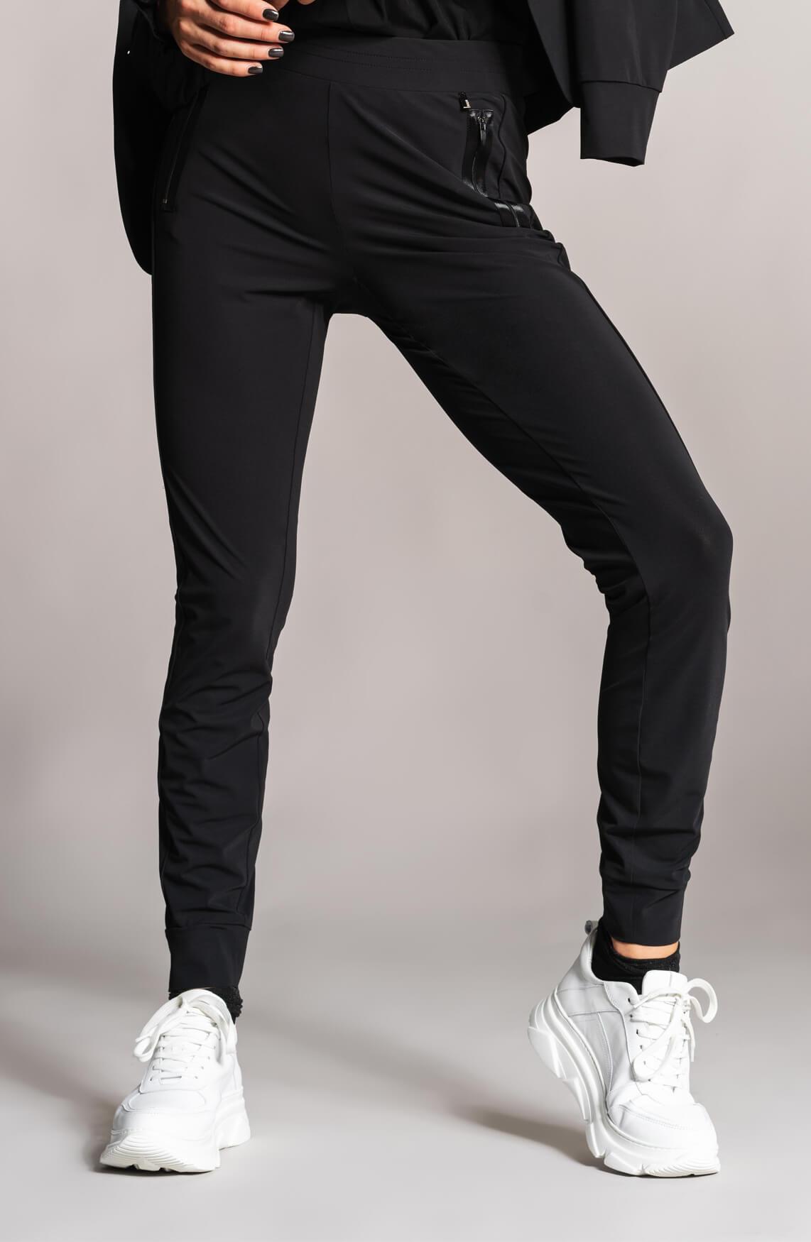 Anna Dames Jersey sentive jogpantalon zwart