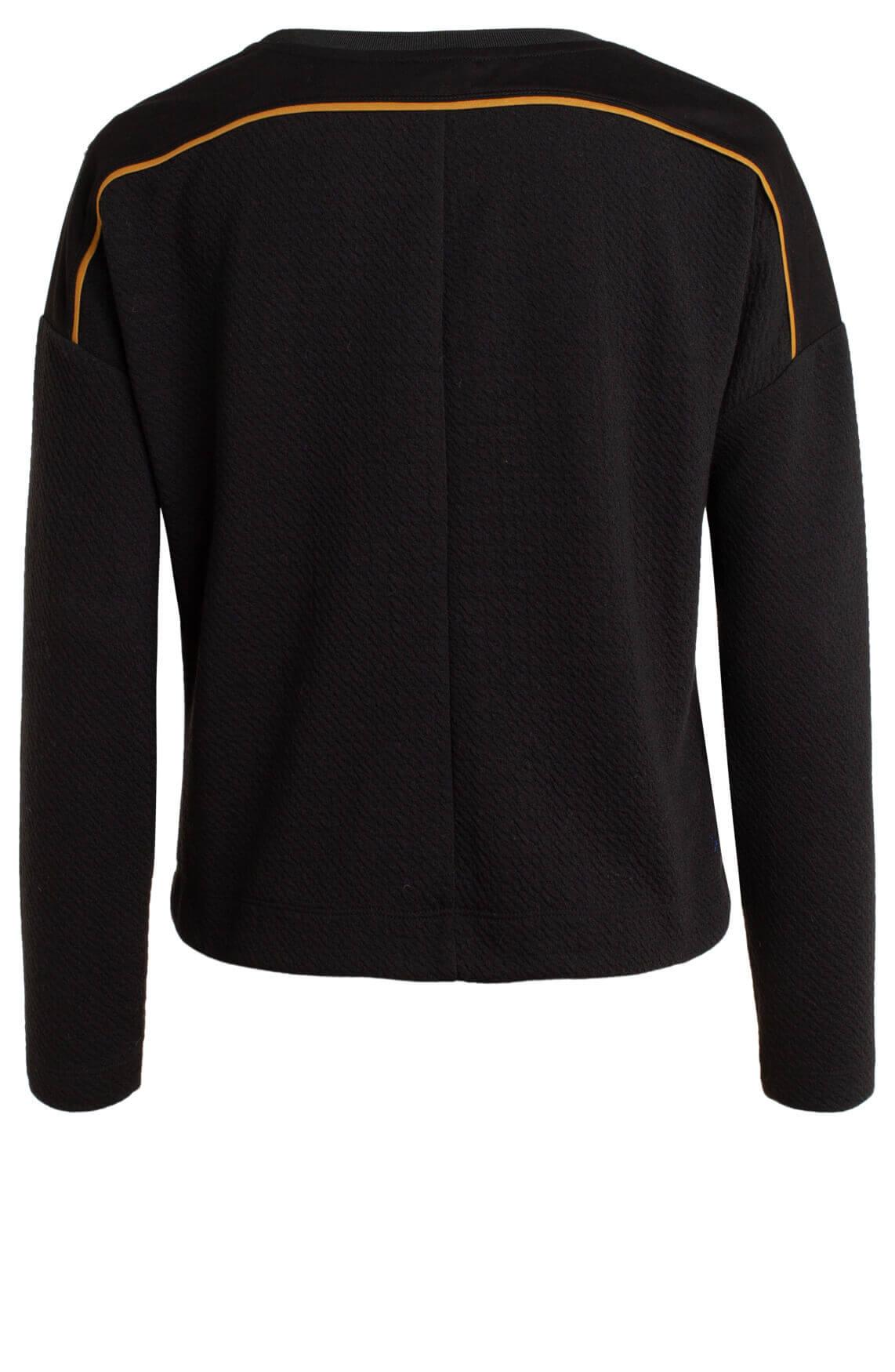 Anna Blue Dames Sweater met reliëf zwart