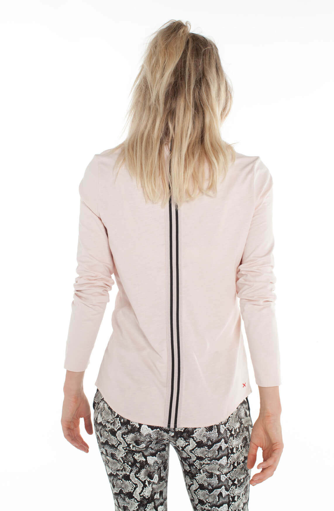 Anna Blue Dames Jersey blouse roze
