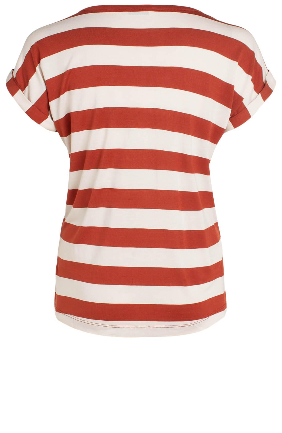 Anna Dames Gestreept shirt Rood