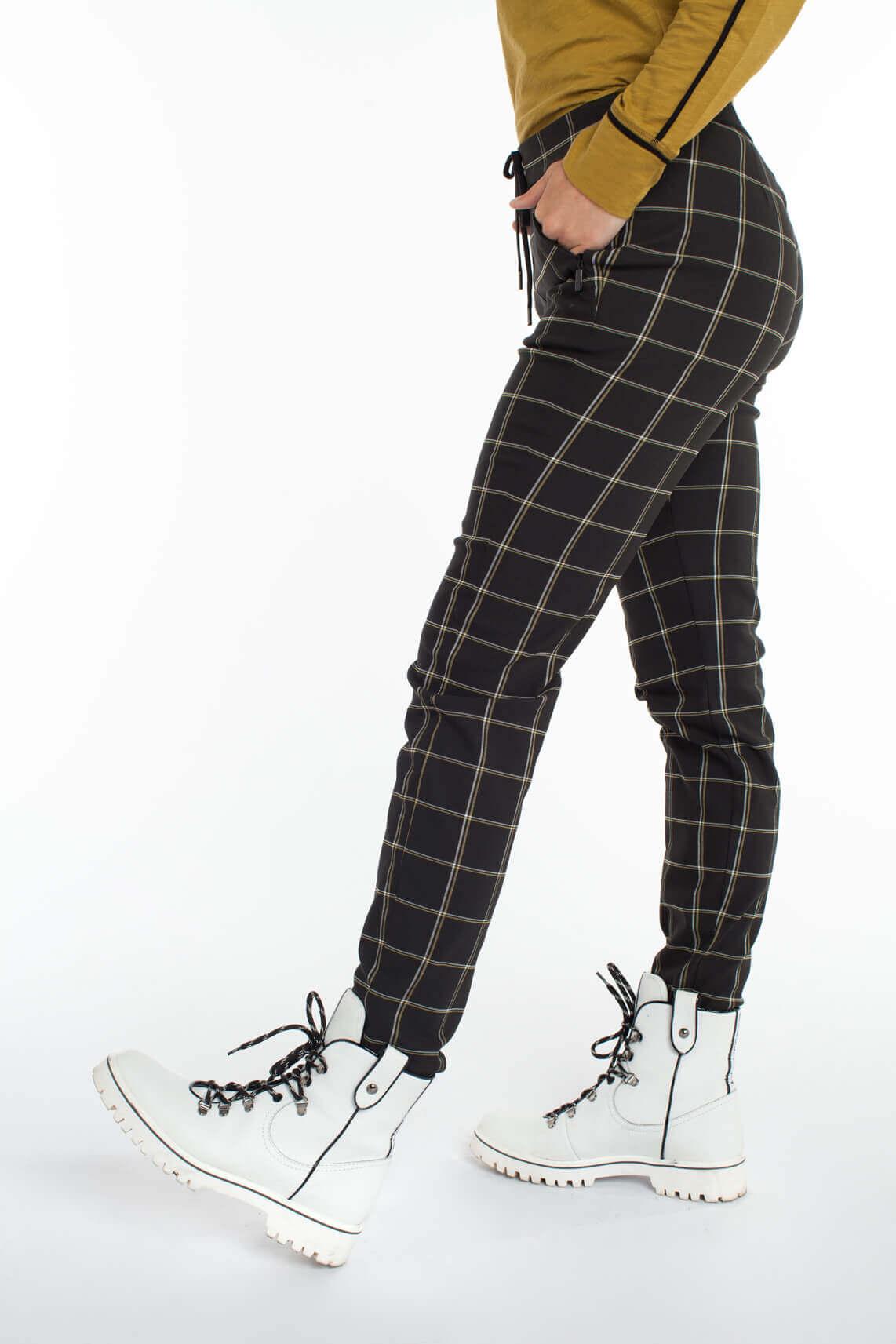 Anna Blue Dames Jersey pantalon zwart