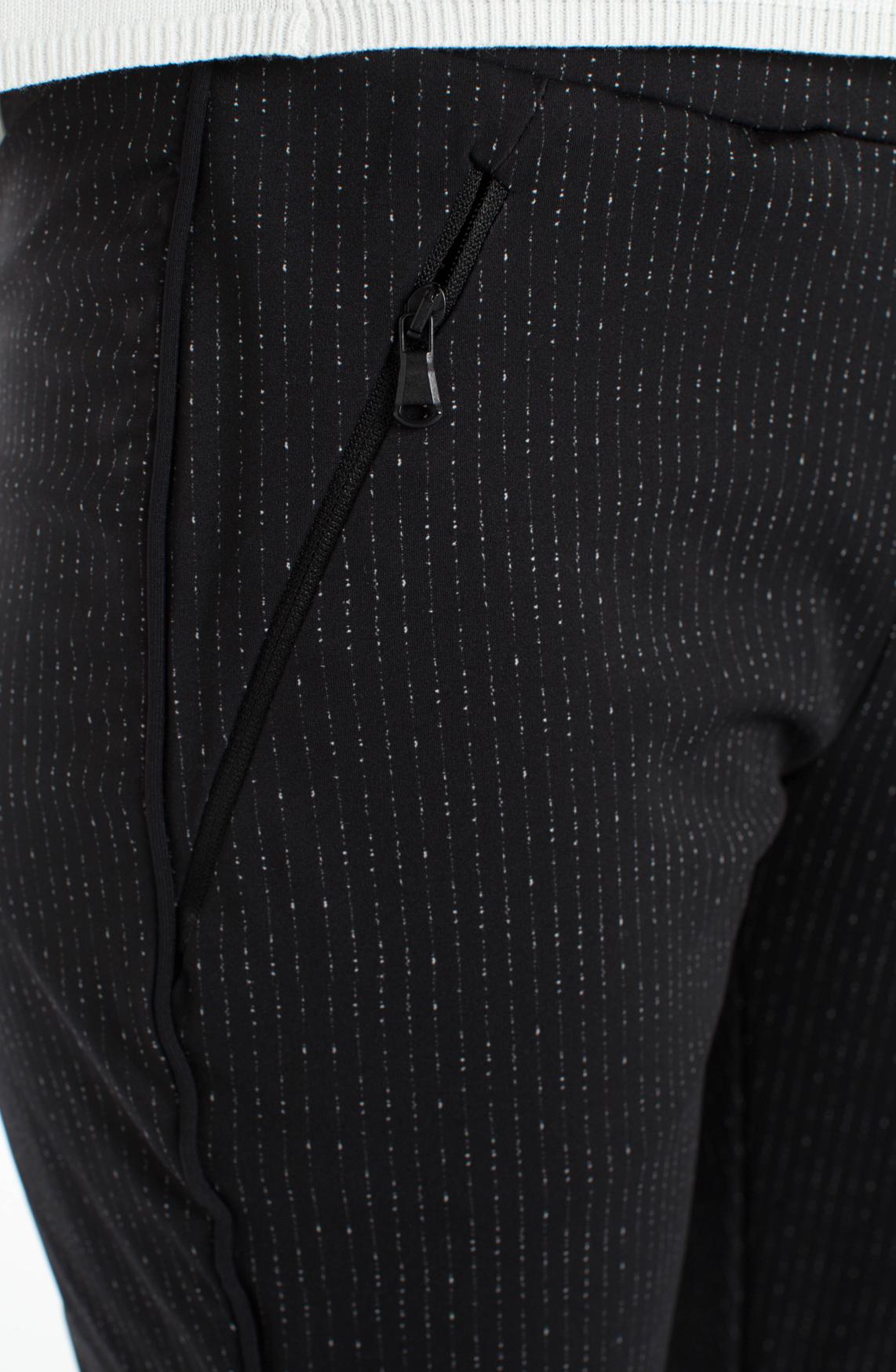 Anna Dames Jogpantalon met krijtstrepen zwart