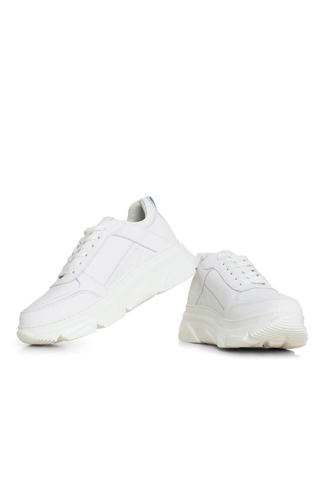 Hip Dames Sneaker met hoge zool wit