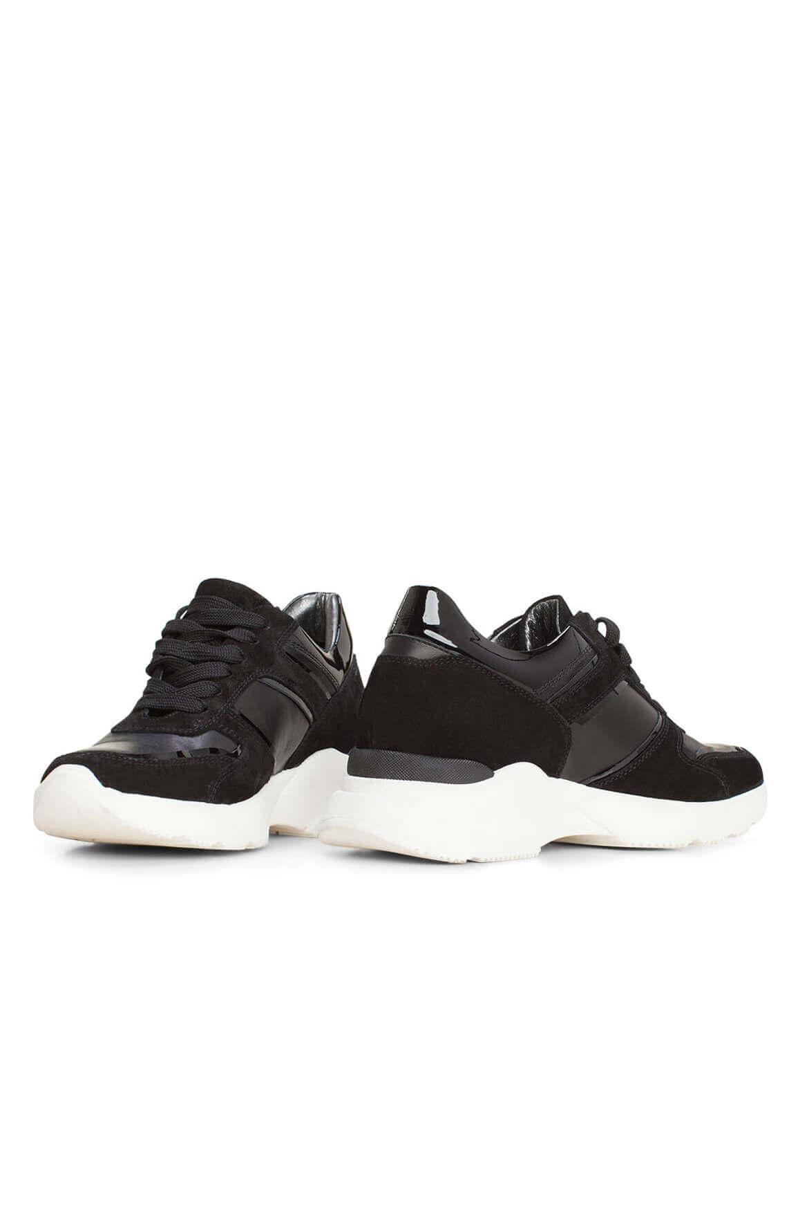 Hip Dames Materiaalmix sneaker zwart