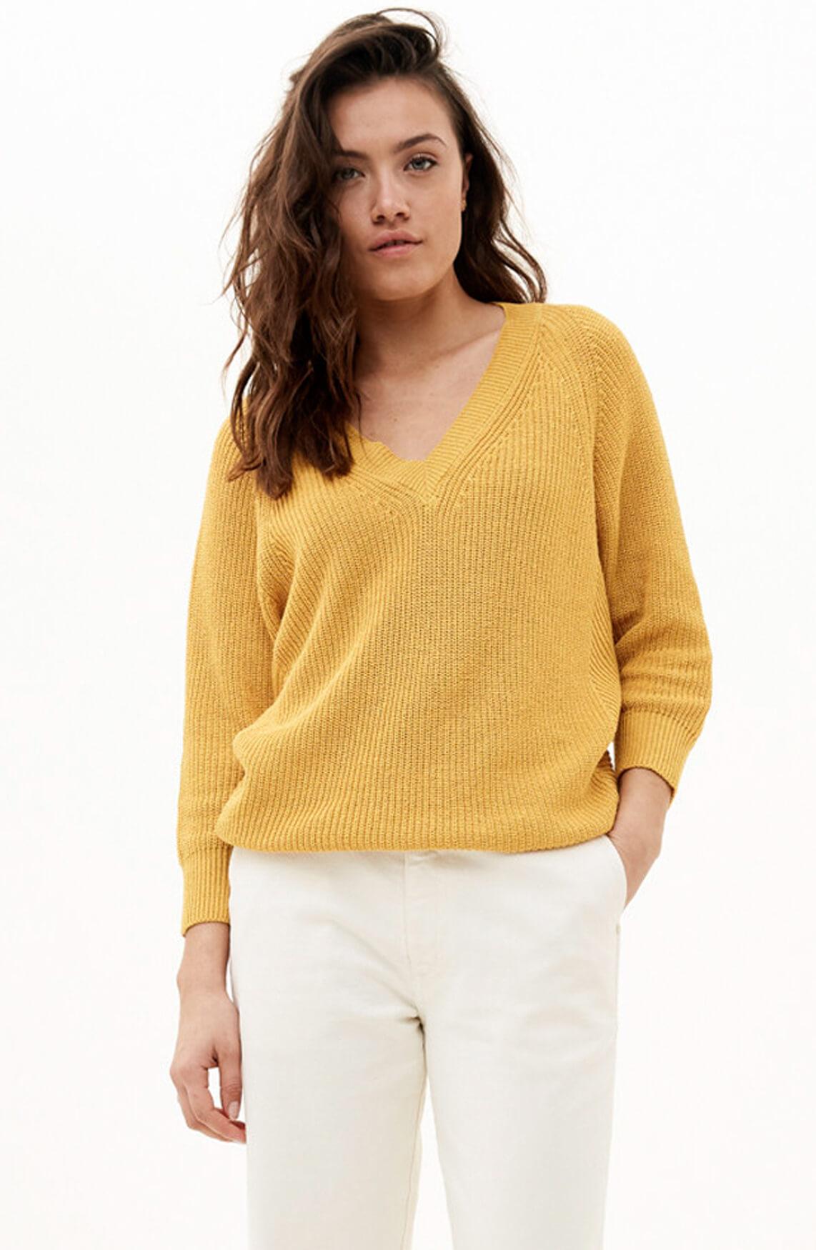 By-Bar Dames Lune gebreide pullover geel