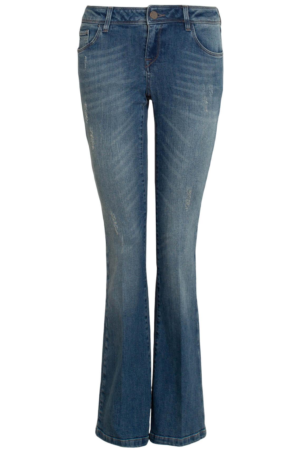Mos Mosh Dames Anthena flared jeans Blauw