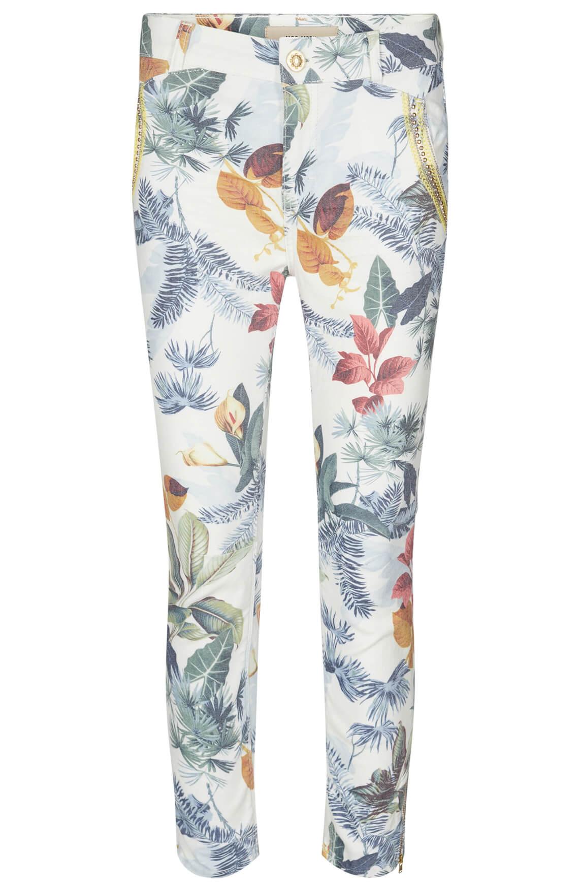 Mos Mosh Dames Etta broek met bloemenprint wit