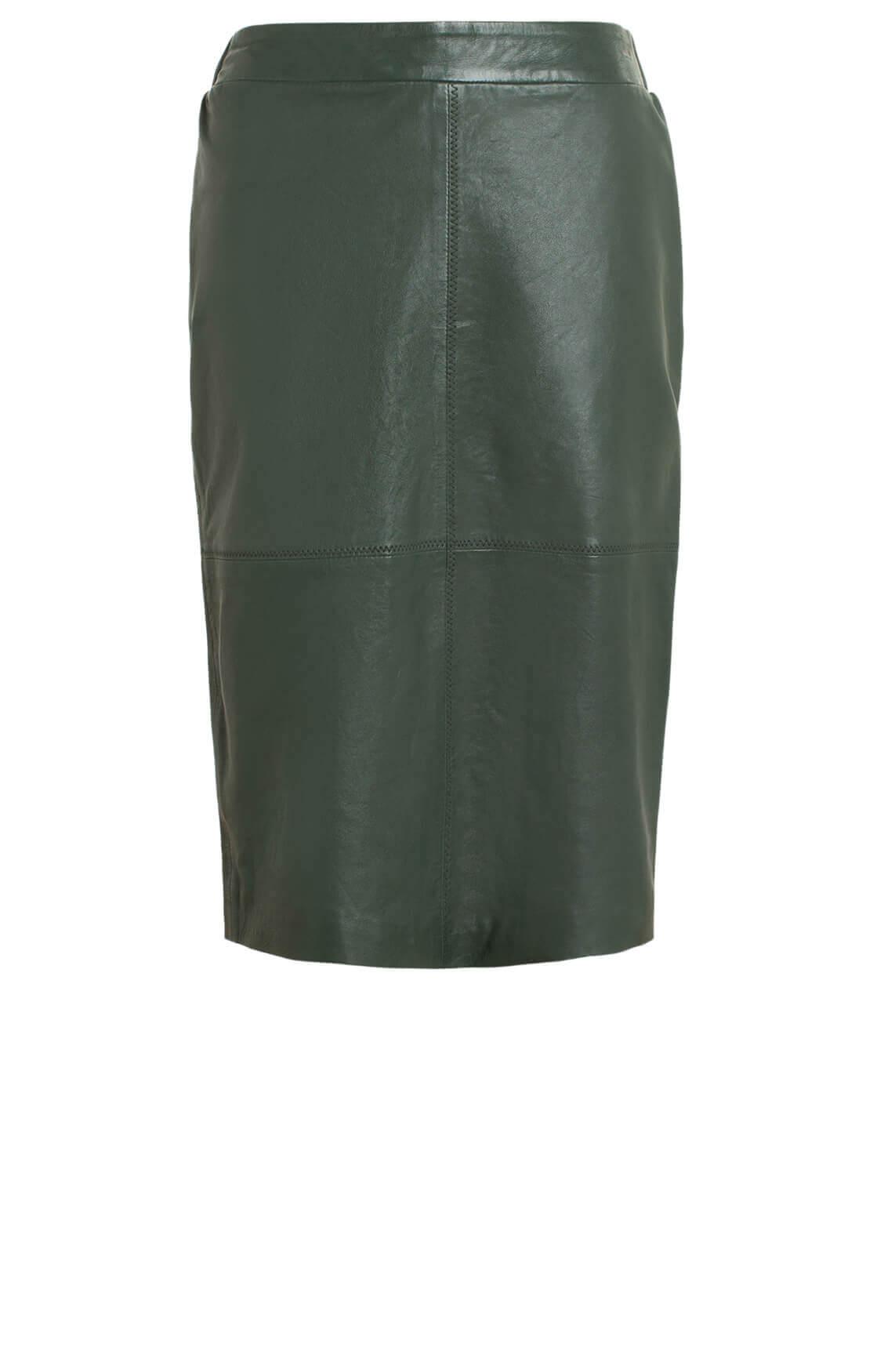 Anna Dames Leren rok groen