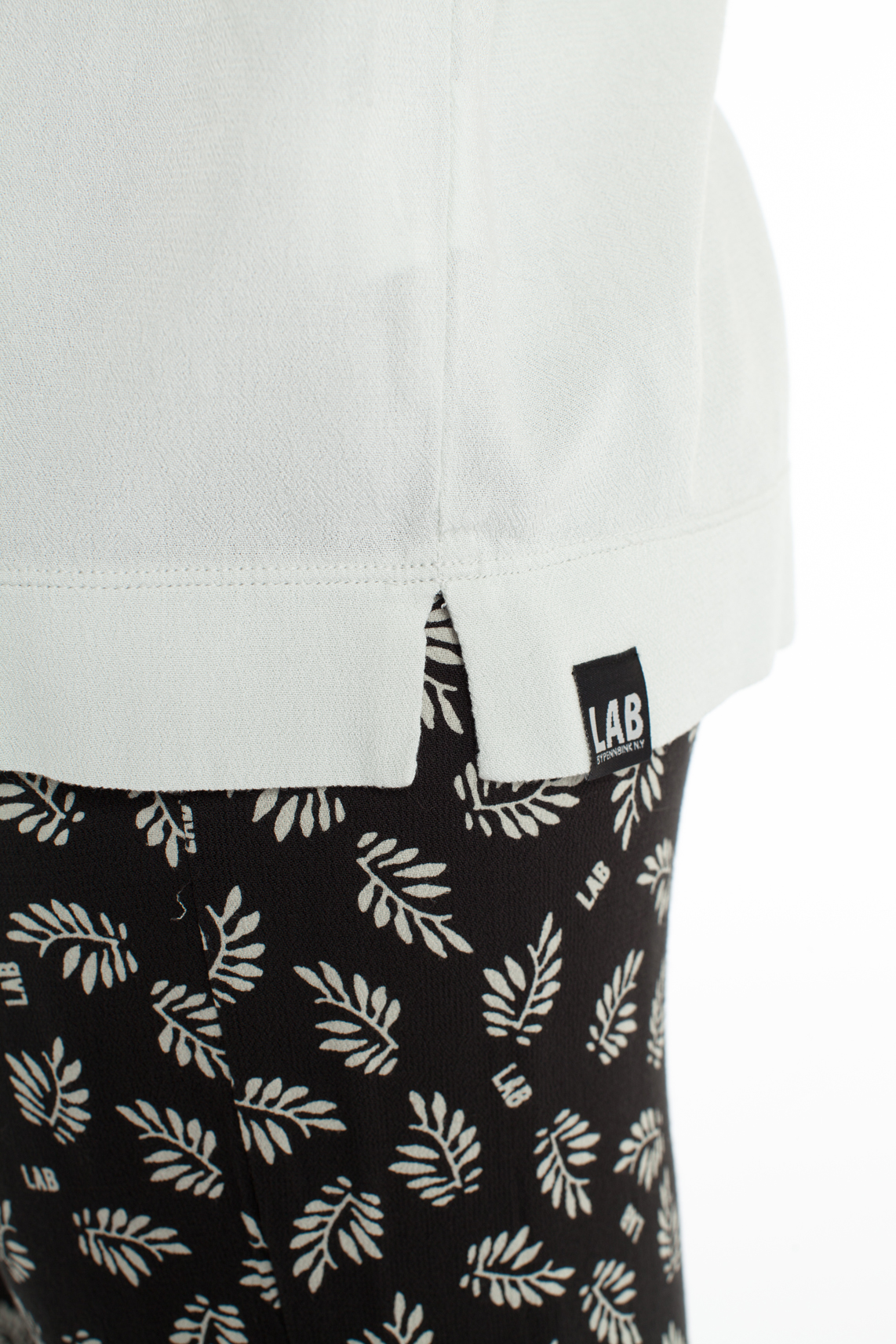 Penn & Ink Dames Blouse met strikdetail Grijs