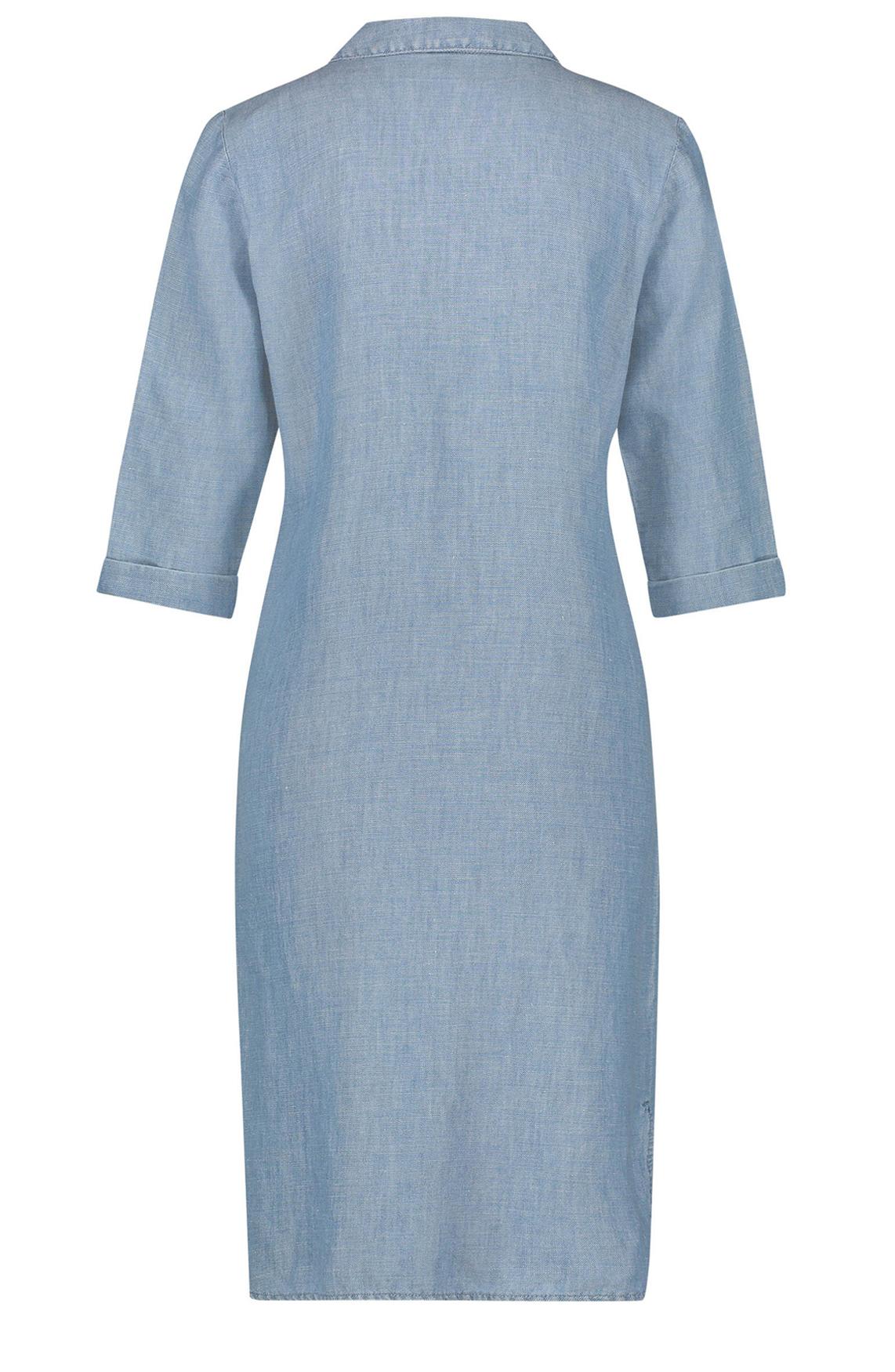 Penn & Ink Dames Denim jurk Blauw