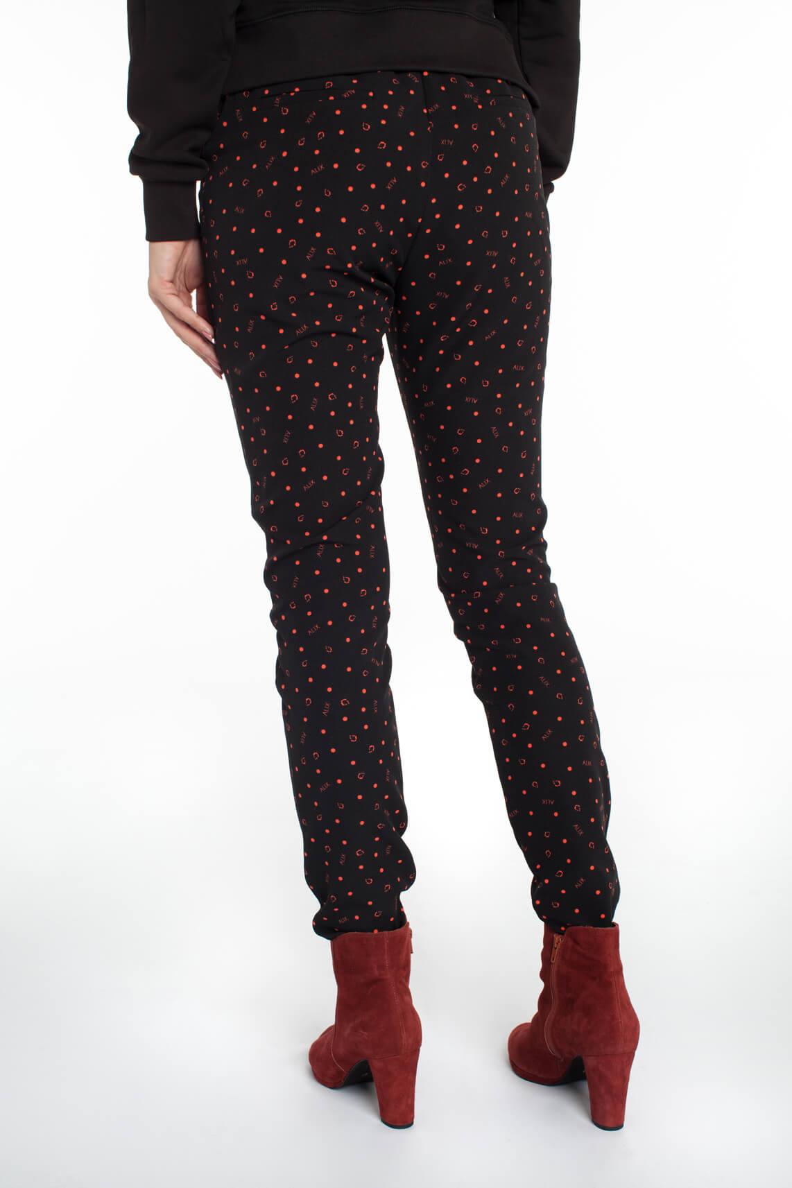 Alix The Label Dames Pantalon met print zwart