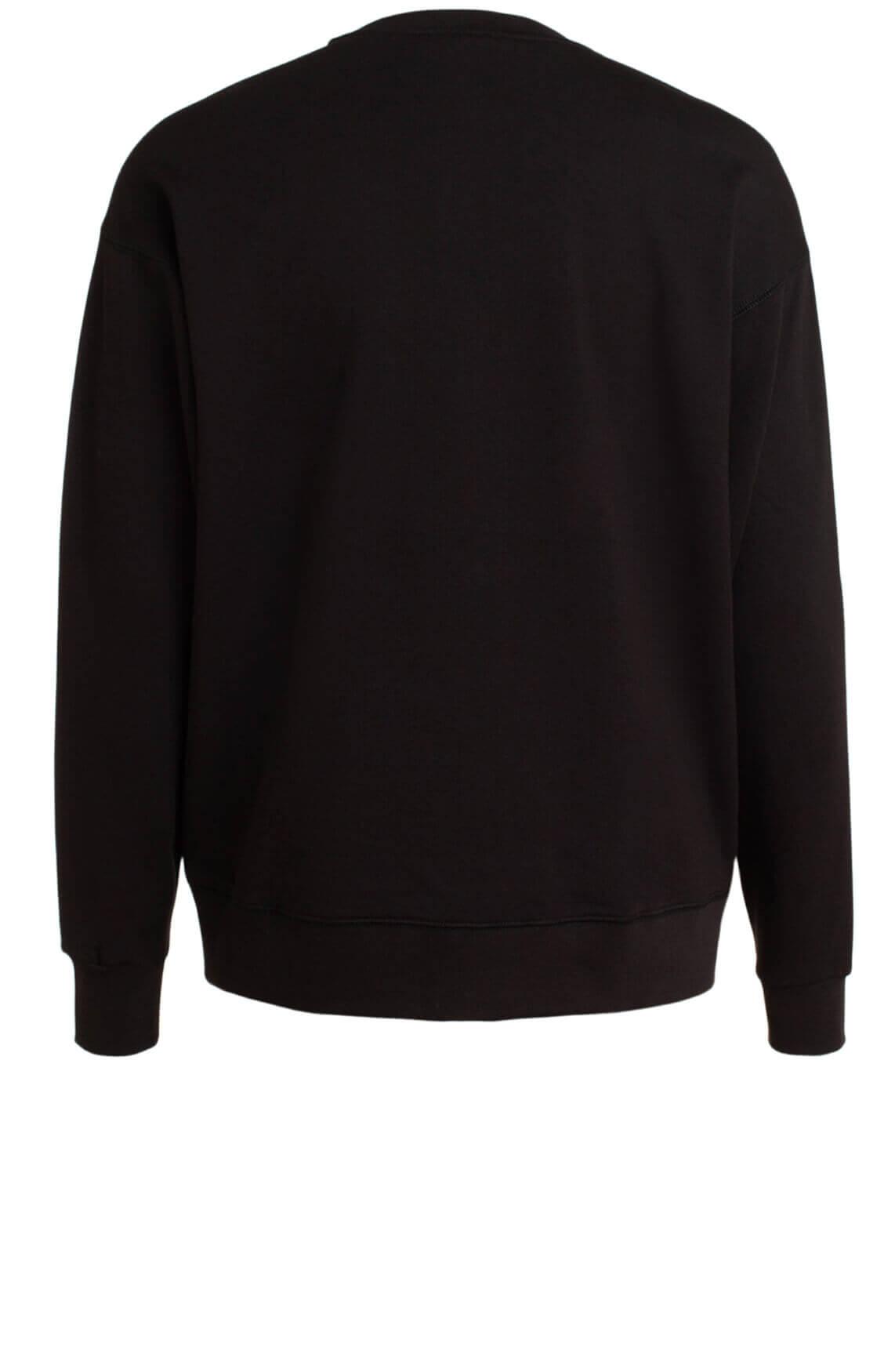 Alix The Label Dames Sweater met borduursel zwart