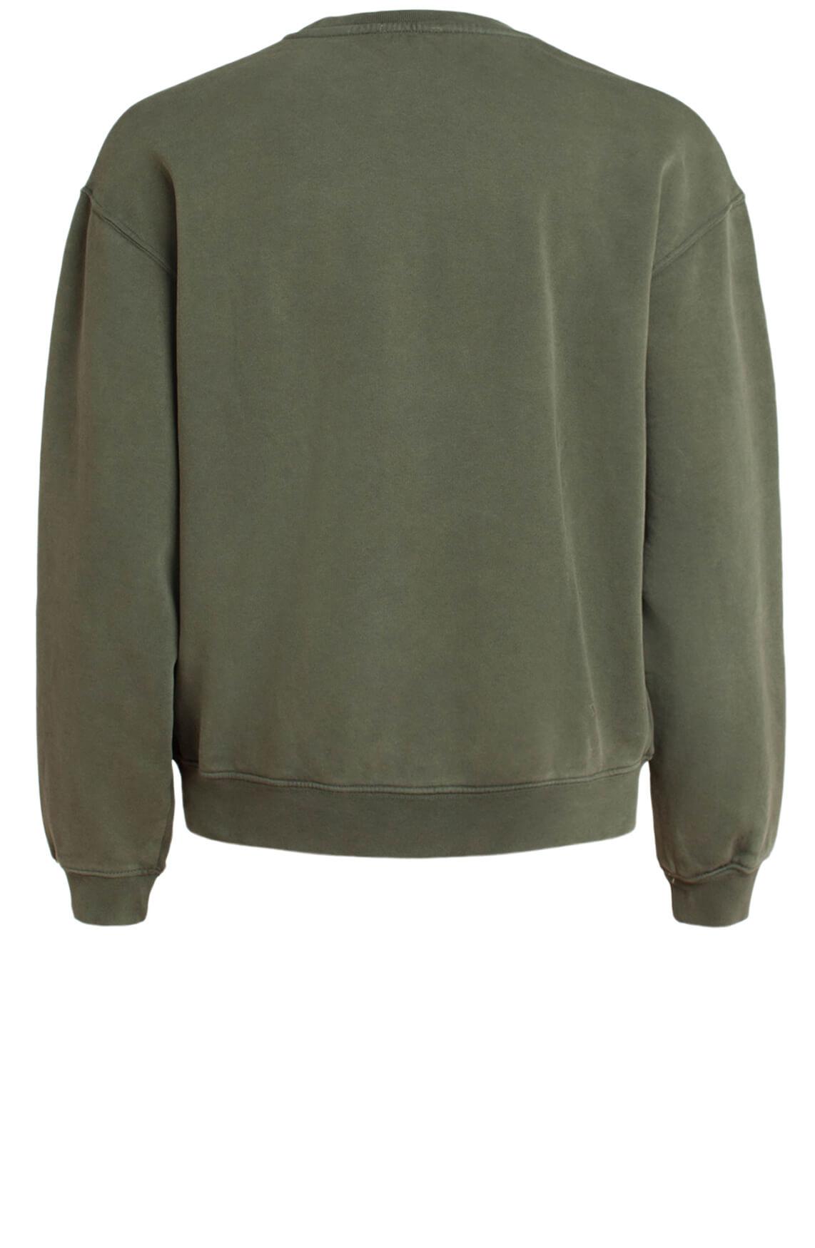 Alix The Label Dames Sweater met tekstopdruk groen