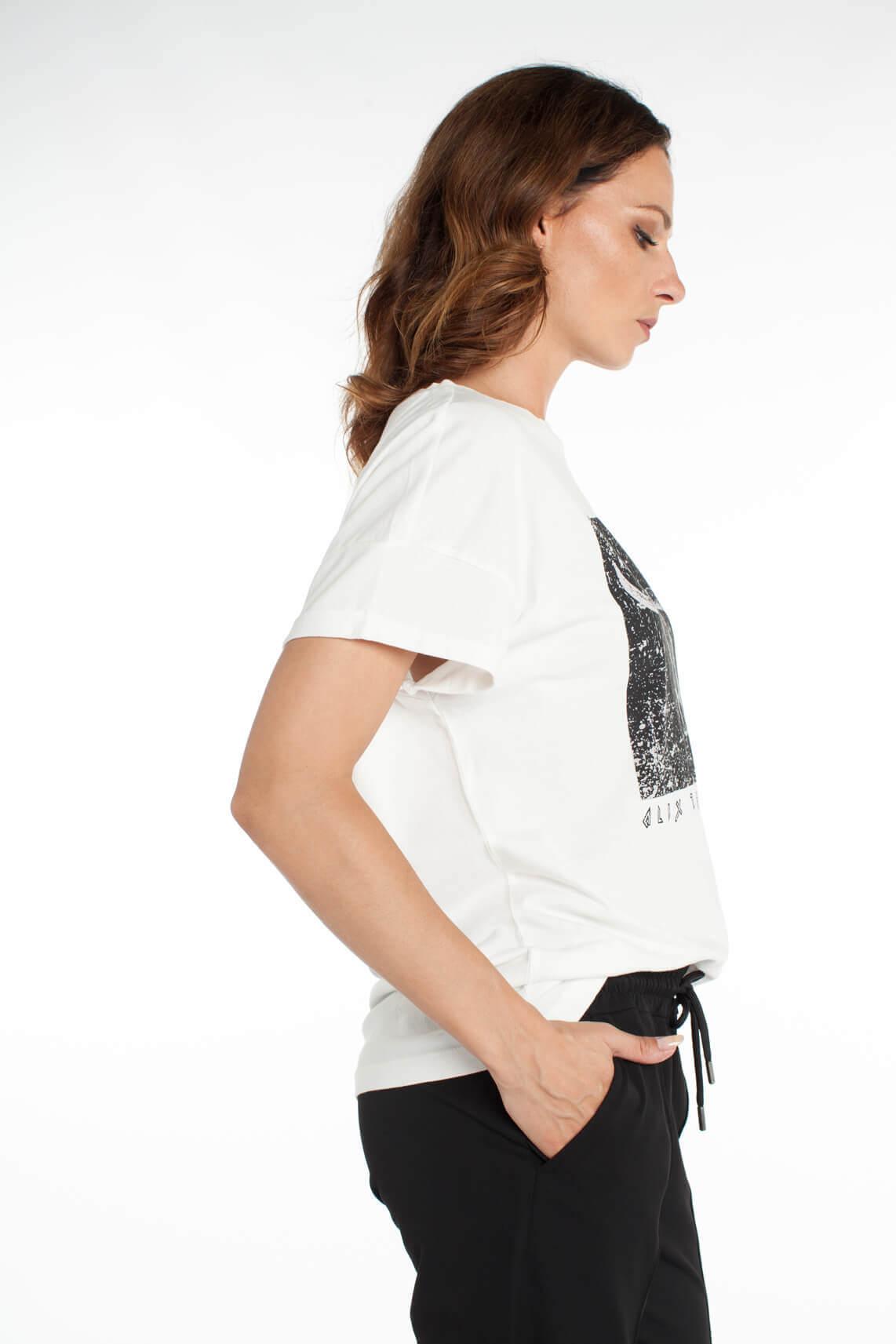 Alix The Label Dames Shirt met opdruk wit