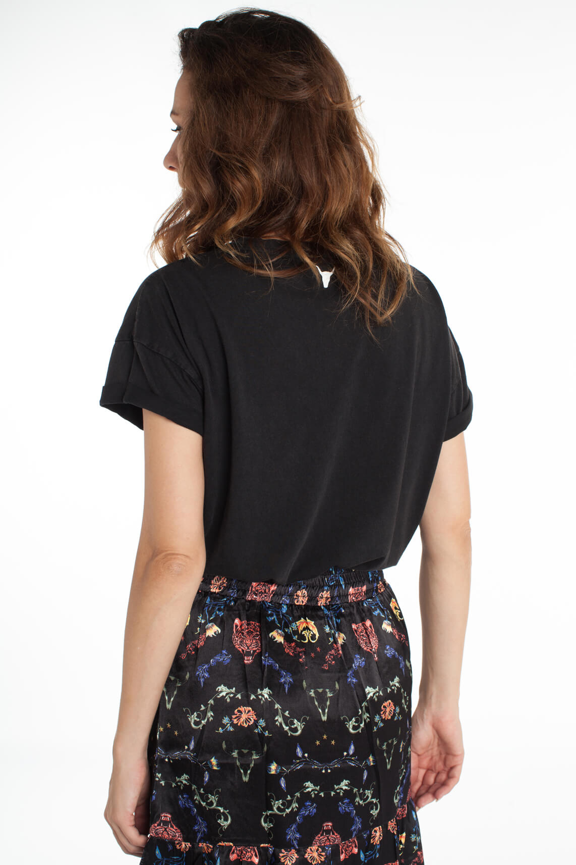Alix The Label Dames Shirt met opdruk zwart