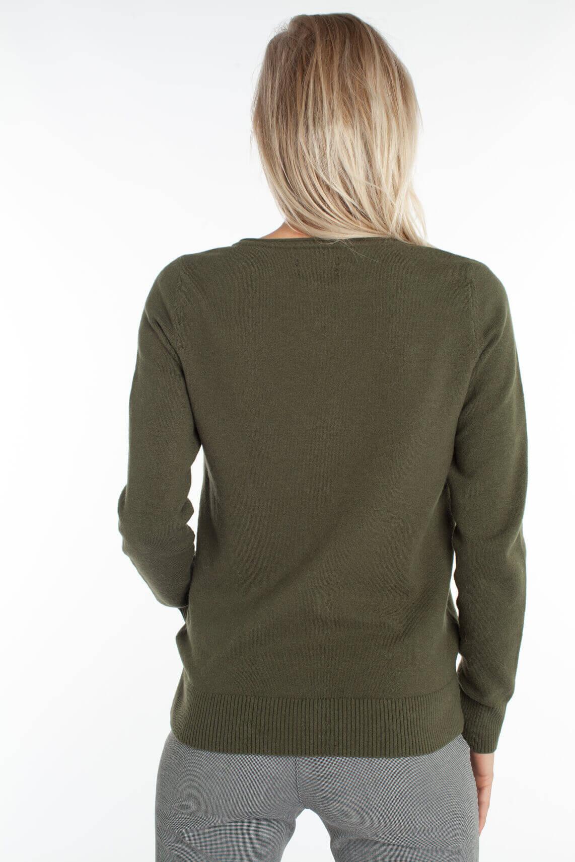 Marc O'Polo Dames Fijngebreide pullover groen