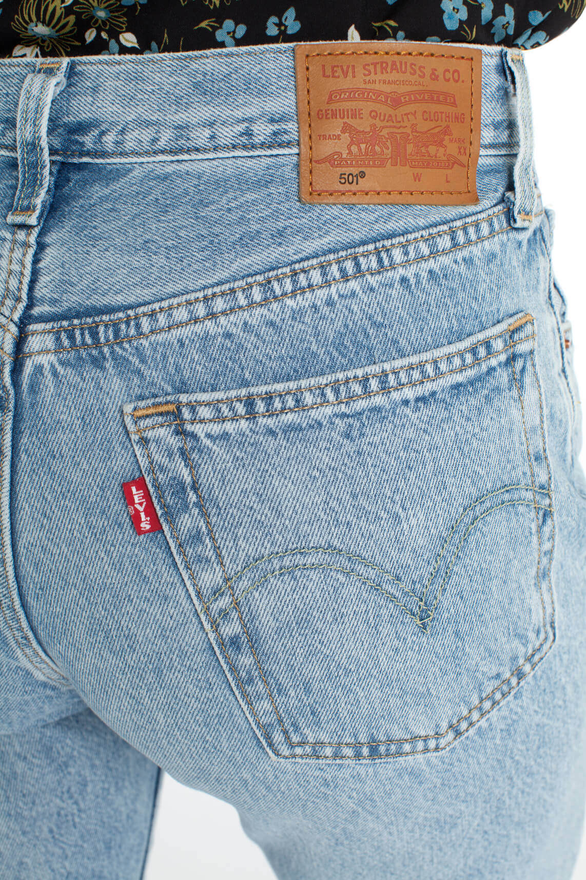 Levi s Dames 501 cropped jeans Blauw