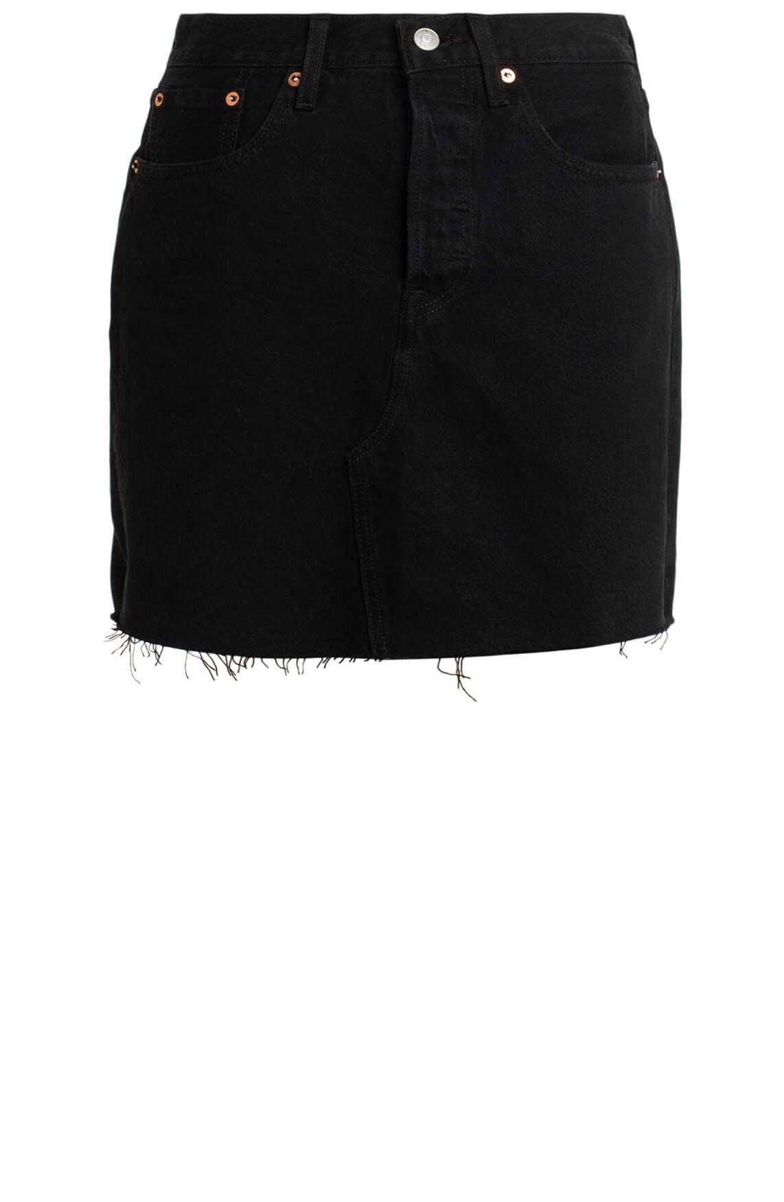 Levi s Dames High-rise denim rok zwart
