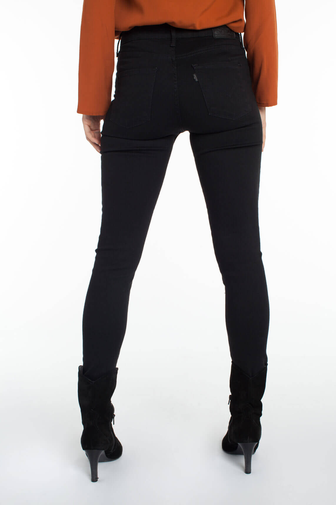 Levi's Dames 310 shaping super skinny jeans Zwart