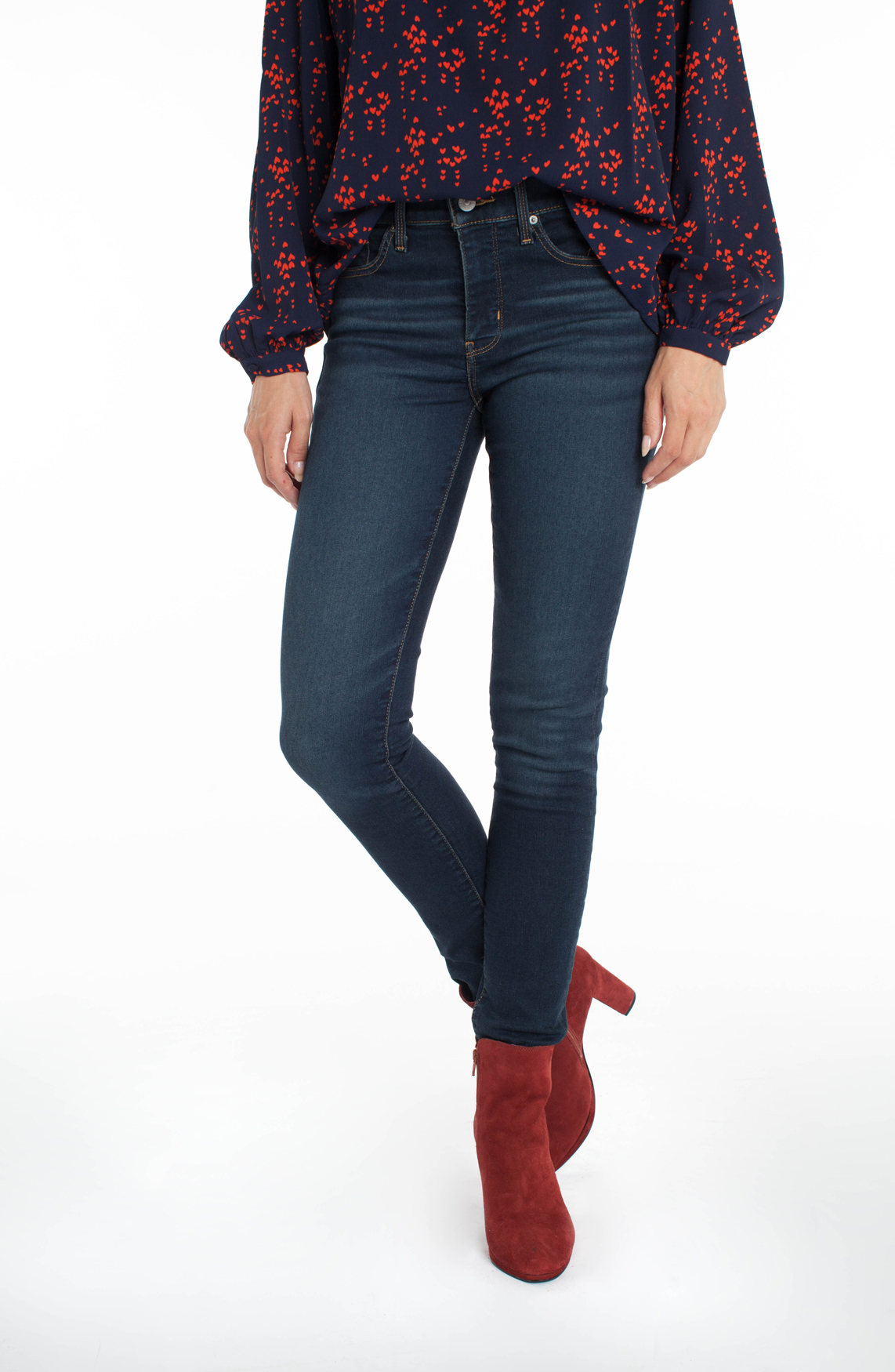 Levi s Dames 311 shaping skinny jeans Blauw