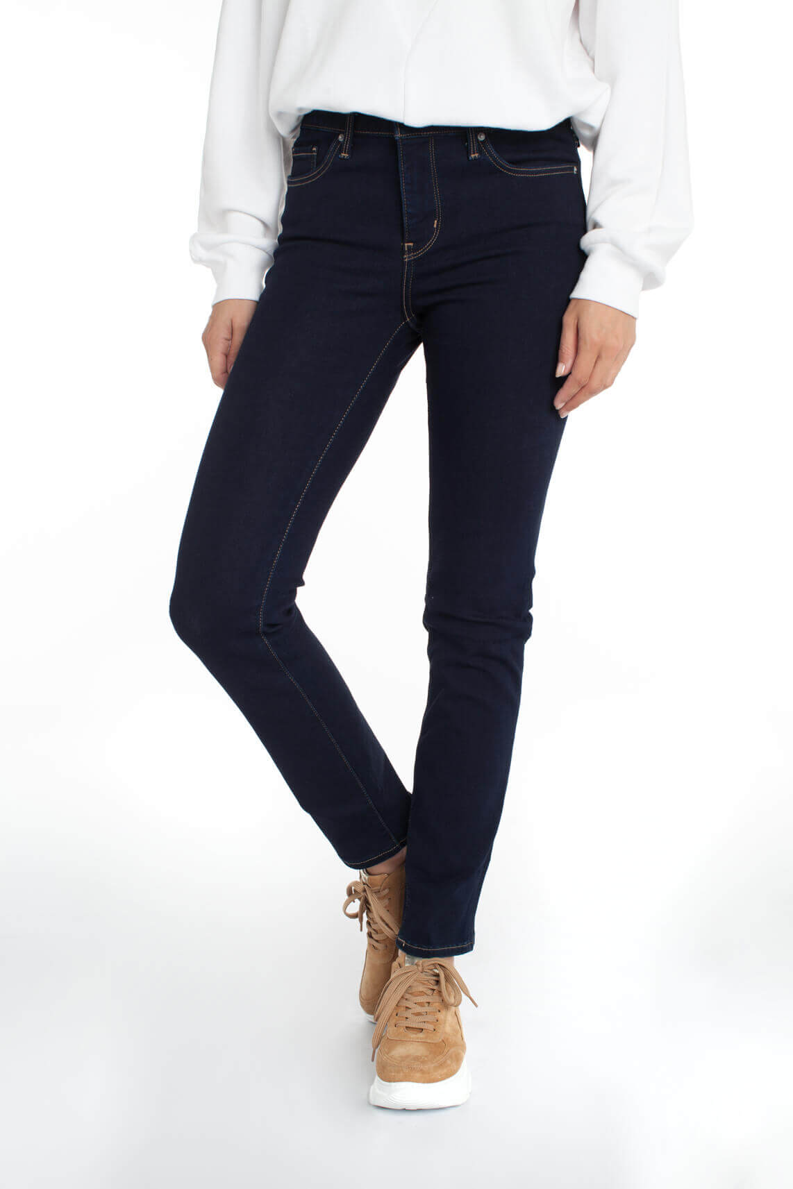 Levi s Dames 312 shaping slim jeans Blauw