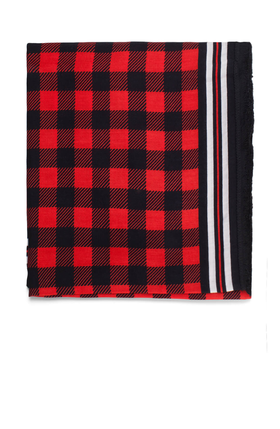 Anna Blue Dames Geblokte shawl Rood