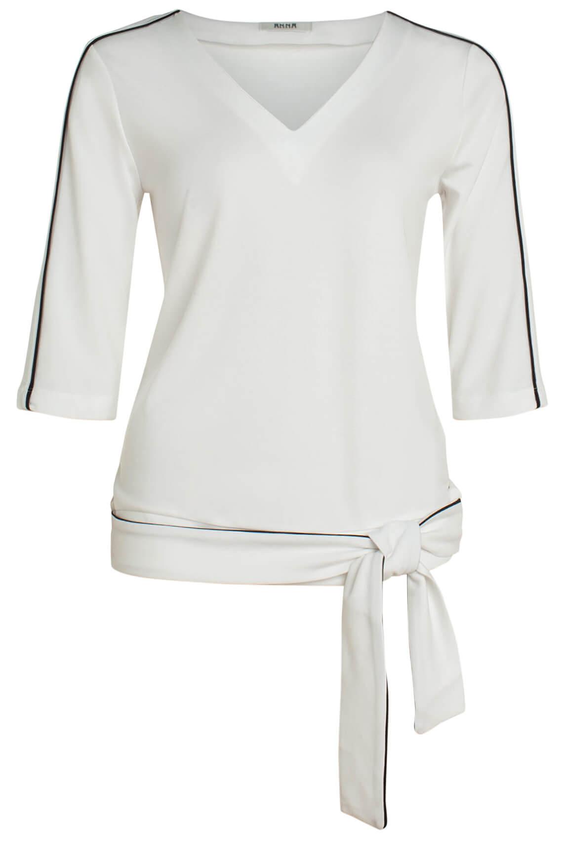 Anna Dames Shirt met ceintuur wit