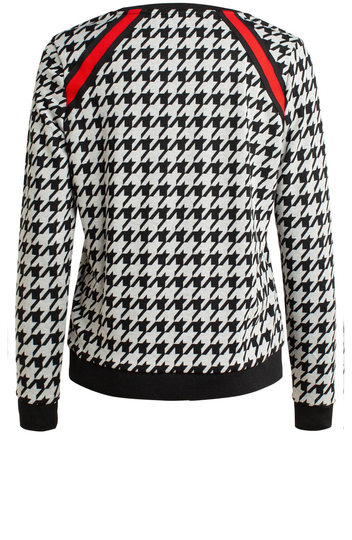 Anna Dames Pied-de-coque sweater zwart